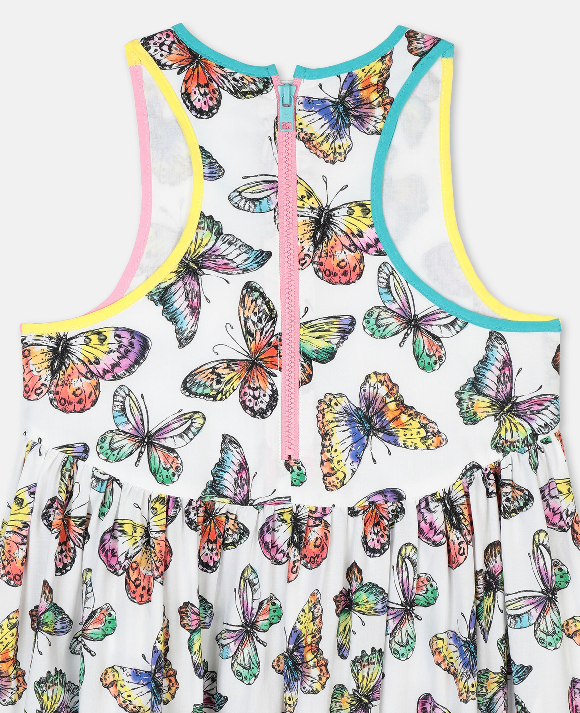 Butterfly Viscose Dress-Multicoloured-large image number 2