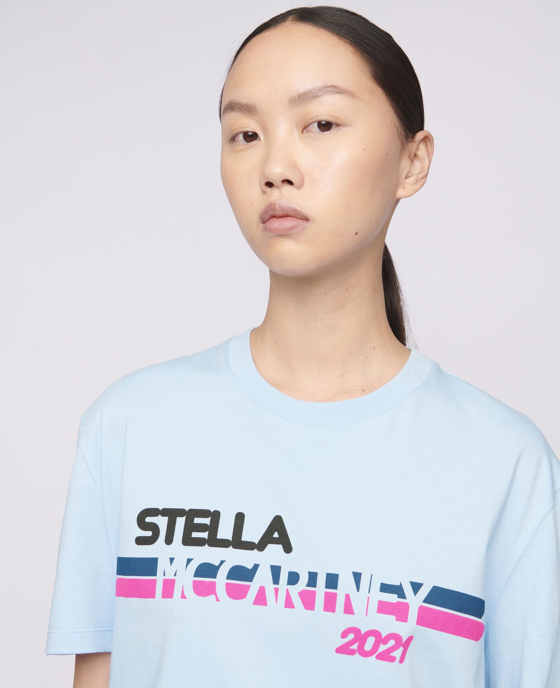 Stella McCartney 2021 Logo T-Shirt-Blue-large image number 3