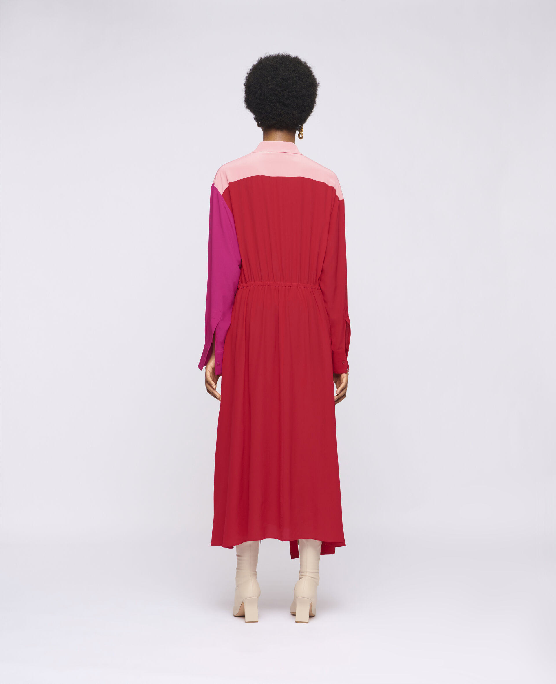 Mia Silk Dress-Red-large image number 2
