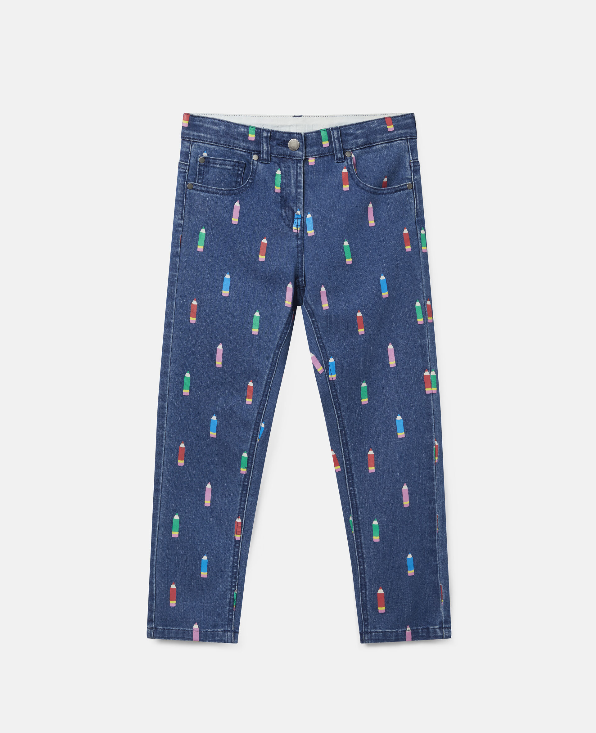 Pencils Denim Trousers-Blue-large image number 0