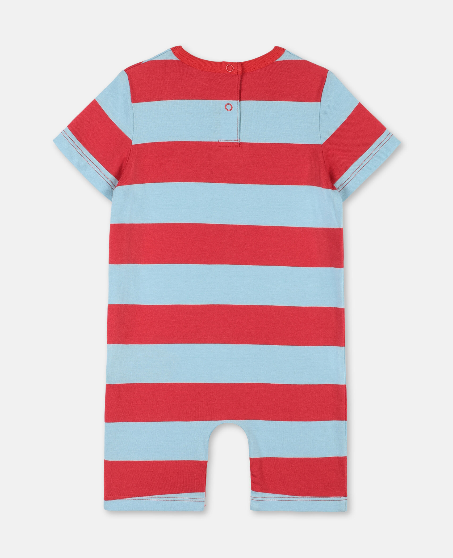 Trompe-L'Oeil Pirate Cotton Jumpsuit -Red-large image number 3