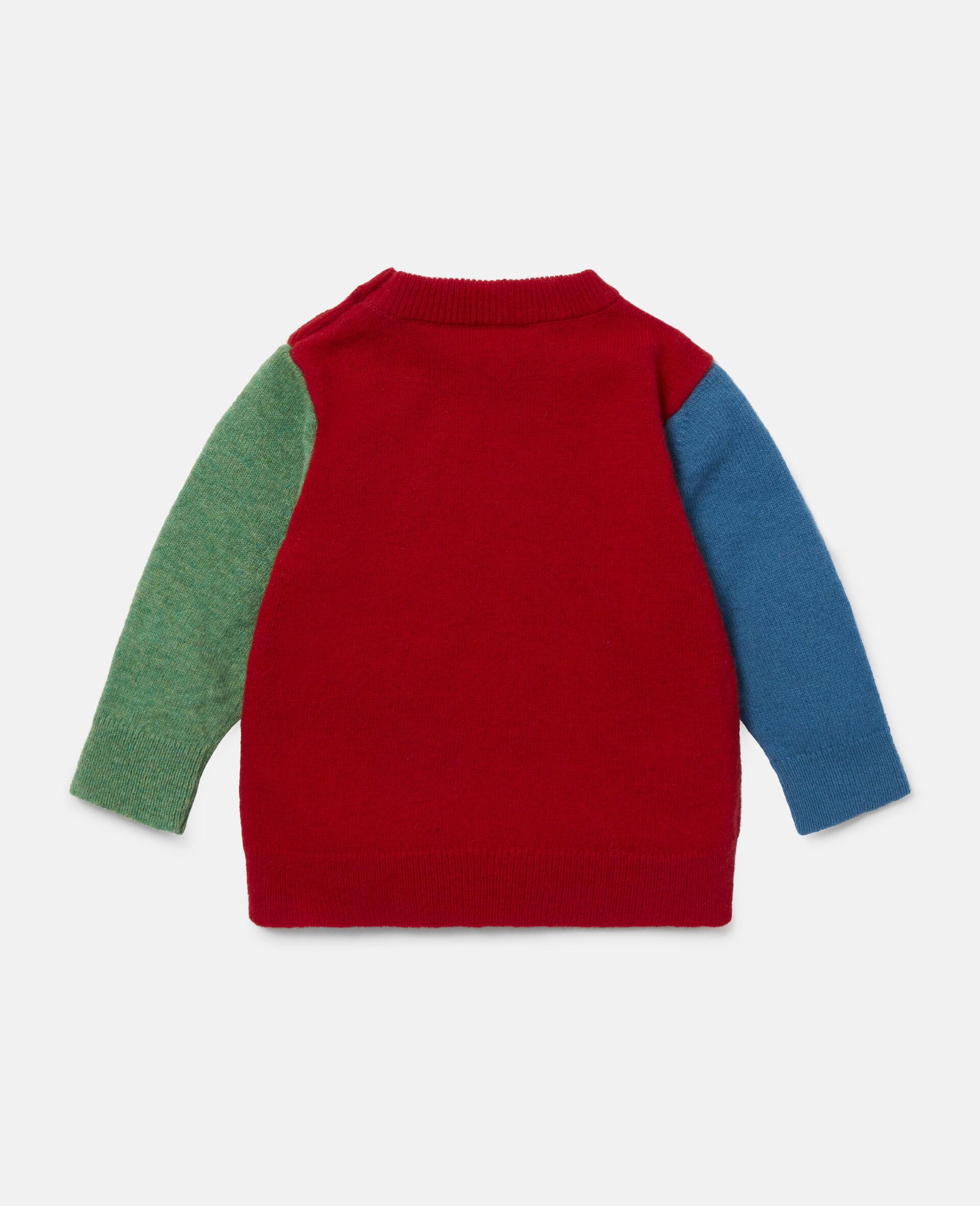 Colourblock Knit Intarsia Jumper-Multicolour-large image number 3