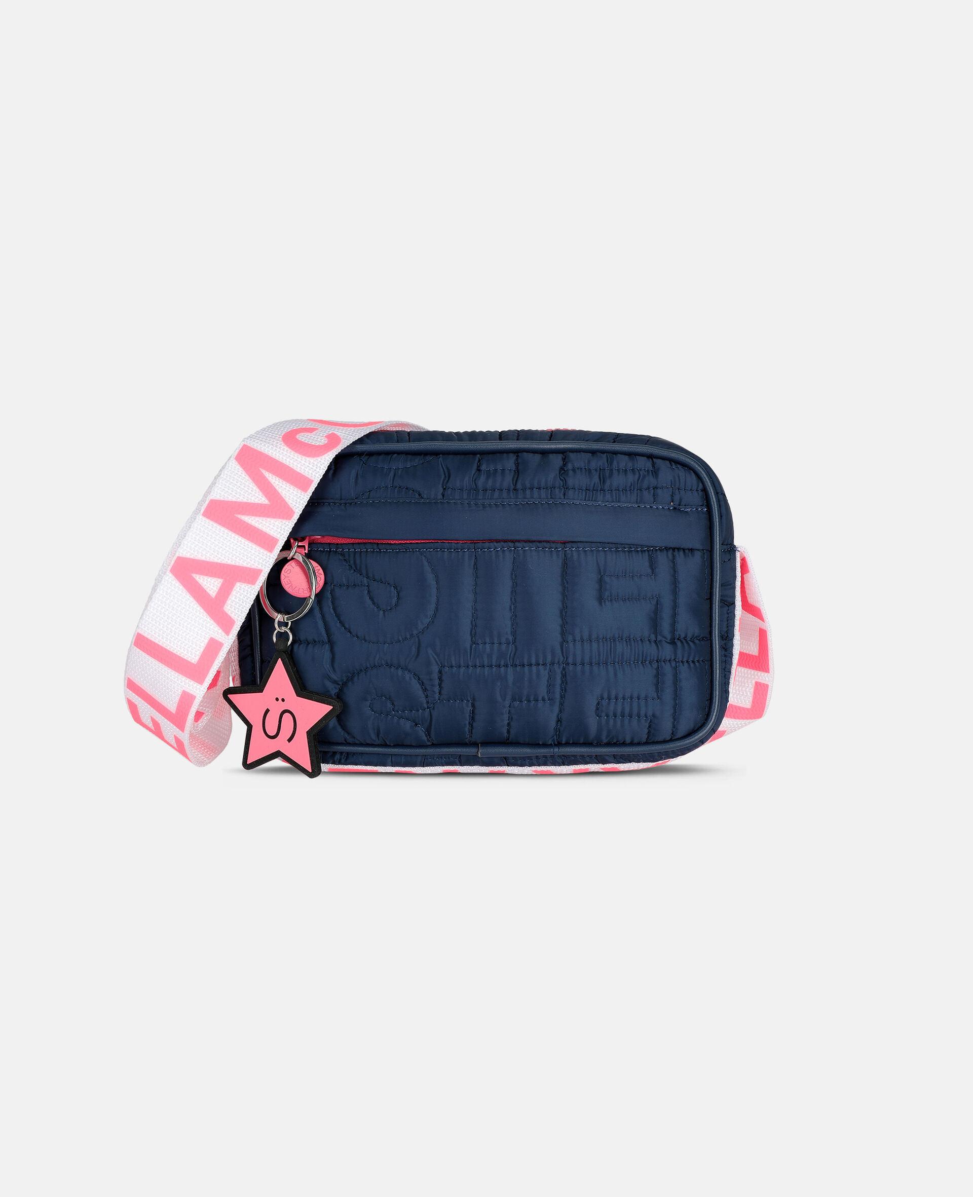 Logo Quilted Shoulder Bag -Blue-large image number 0
