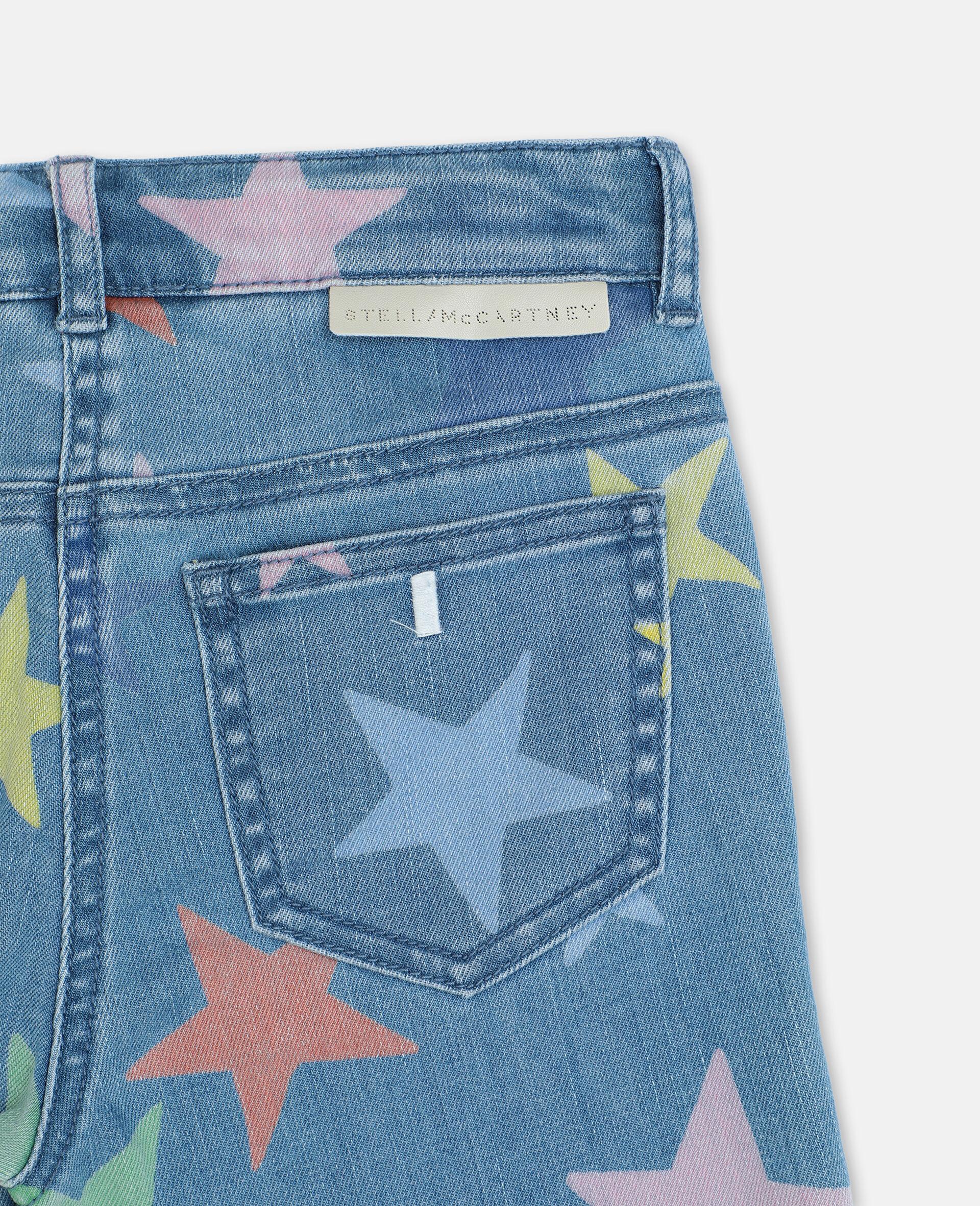 Multicolor Stars Skinny Denim Pants-Multicoloured-large image number 2