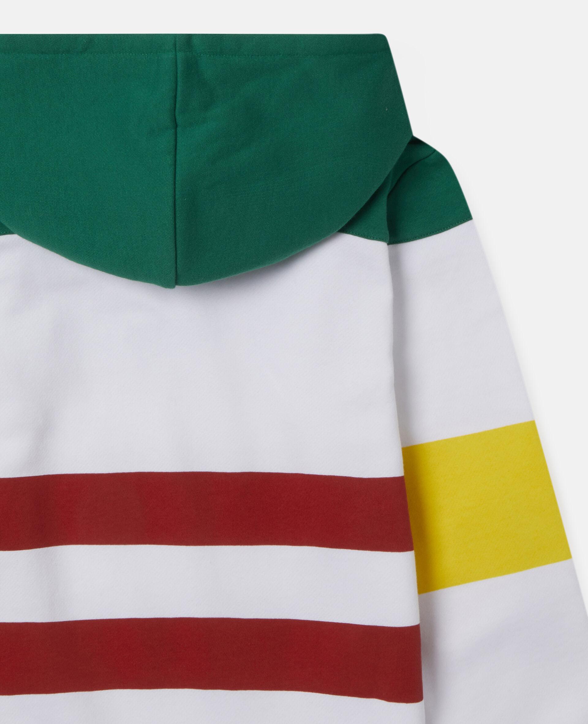 Übergroßer Kapuzenpullover aus Fleece mit Logo-Bunt-large image number 2