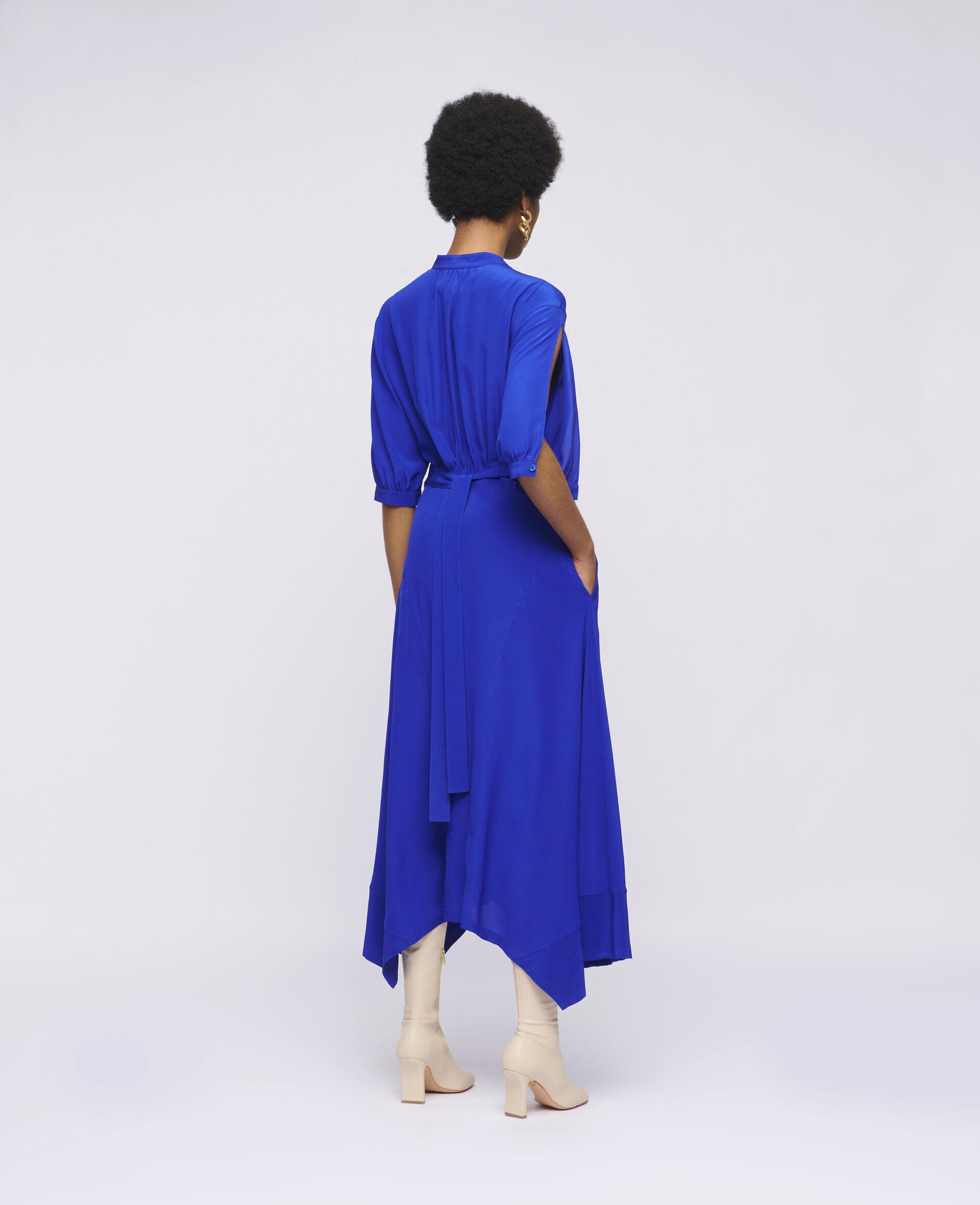 Olivia Silk Dress-Blue-large image number 2