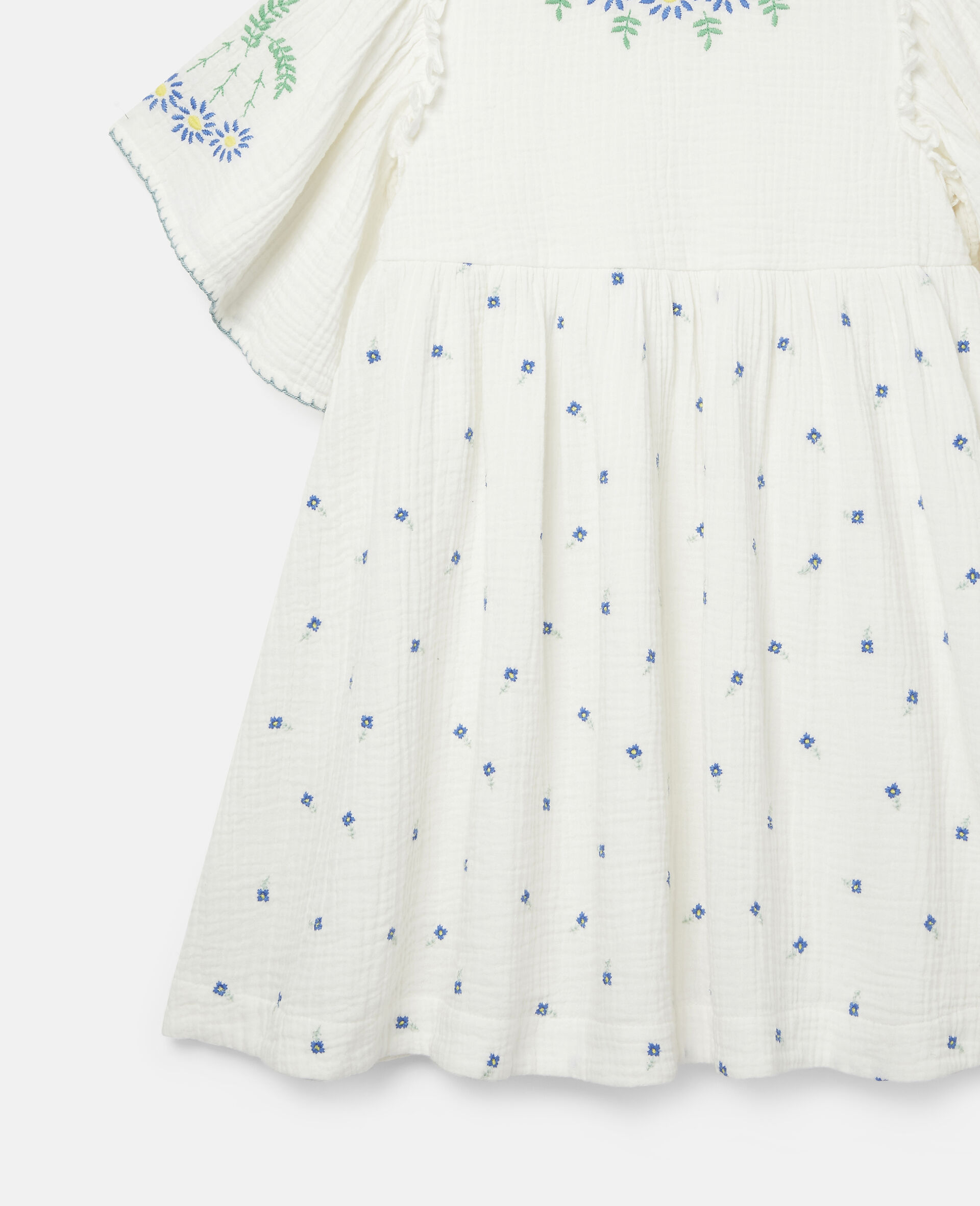 Baumwoll-Kleid mit Blumenstickerei-Weiß-large image number 1