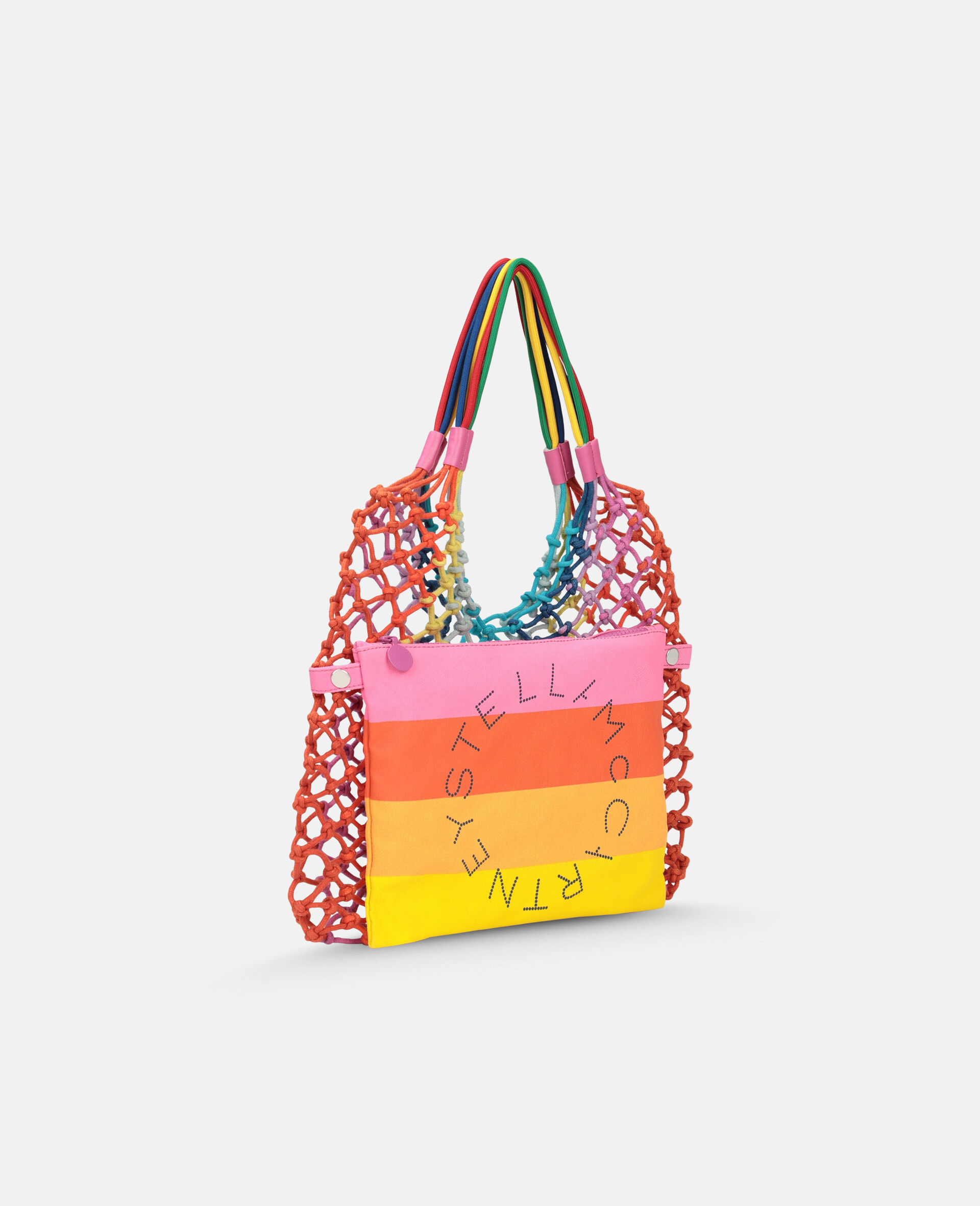 Multicolour Knotted Handbag -Multicolour-large image number 1