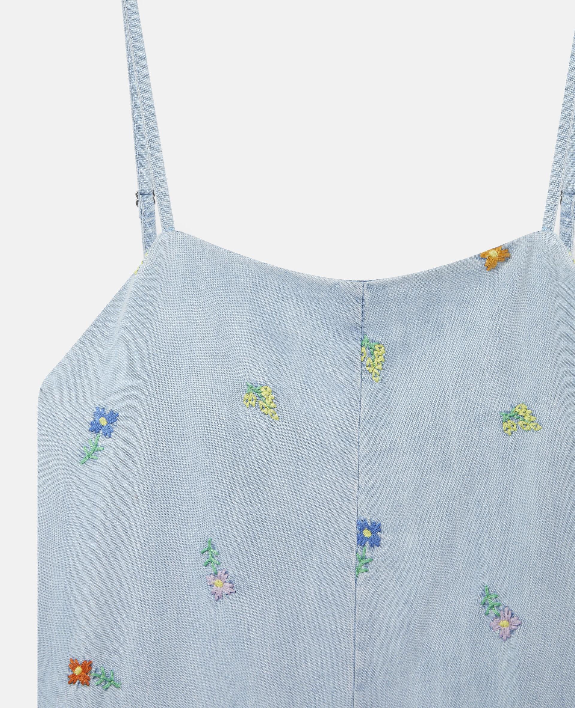 Einteiler mit Blumenstickerei-Blau-large image number 1