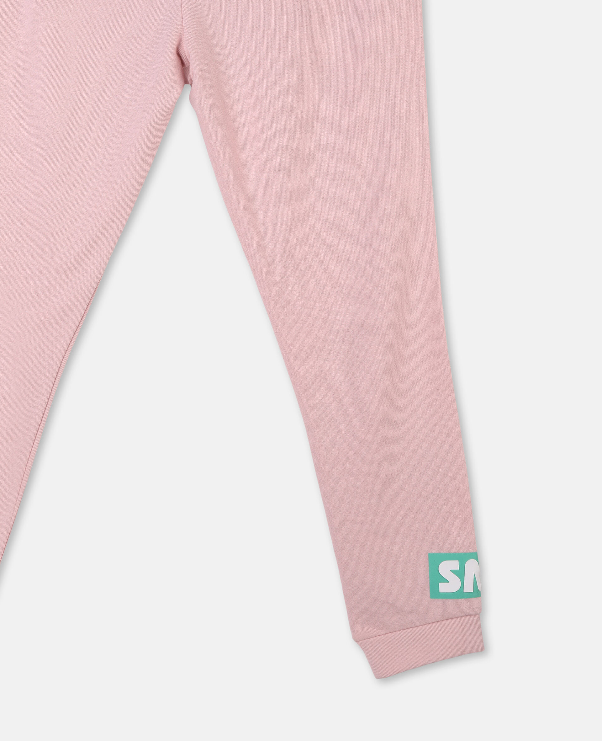 Logo Badge Cotton Fleece Sweatpants -Pink-large image number 2