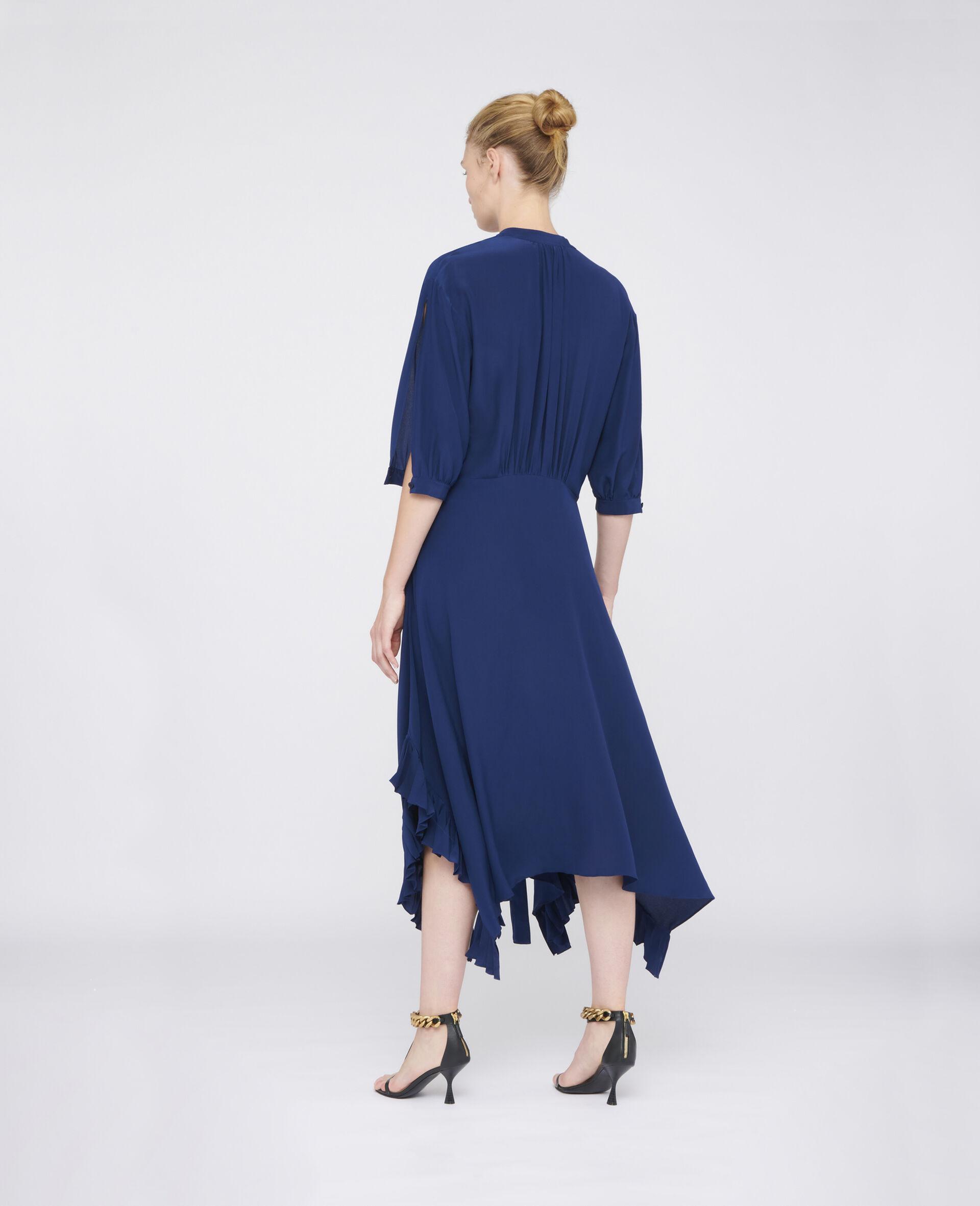 Ophelia Silk Dress-Blue-large image number 2