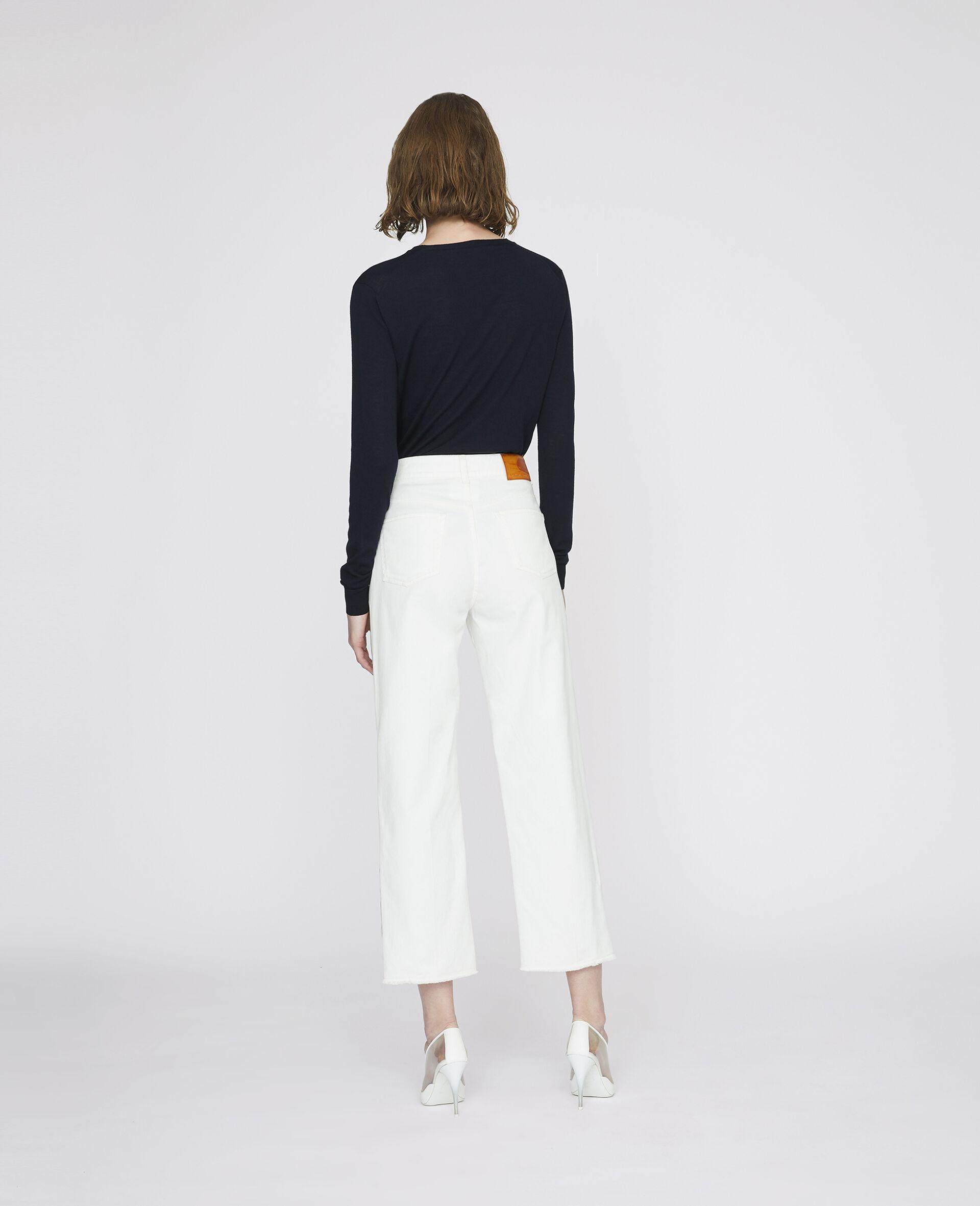 九分牛仔裤-白色-large image number 2