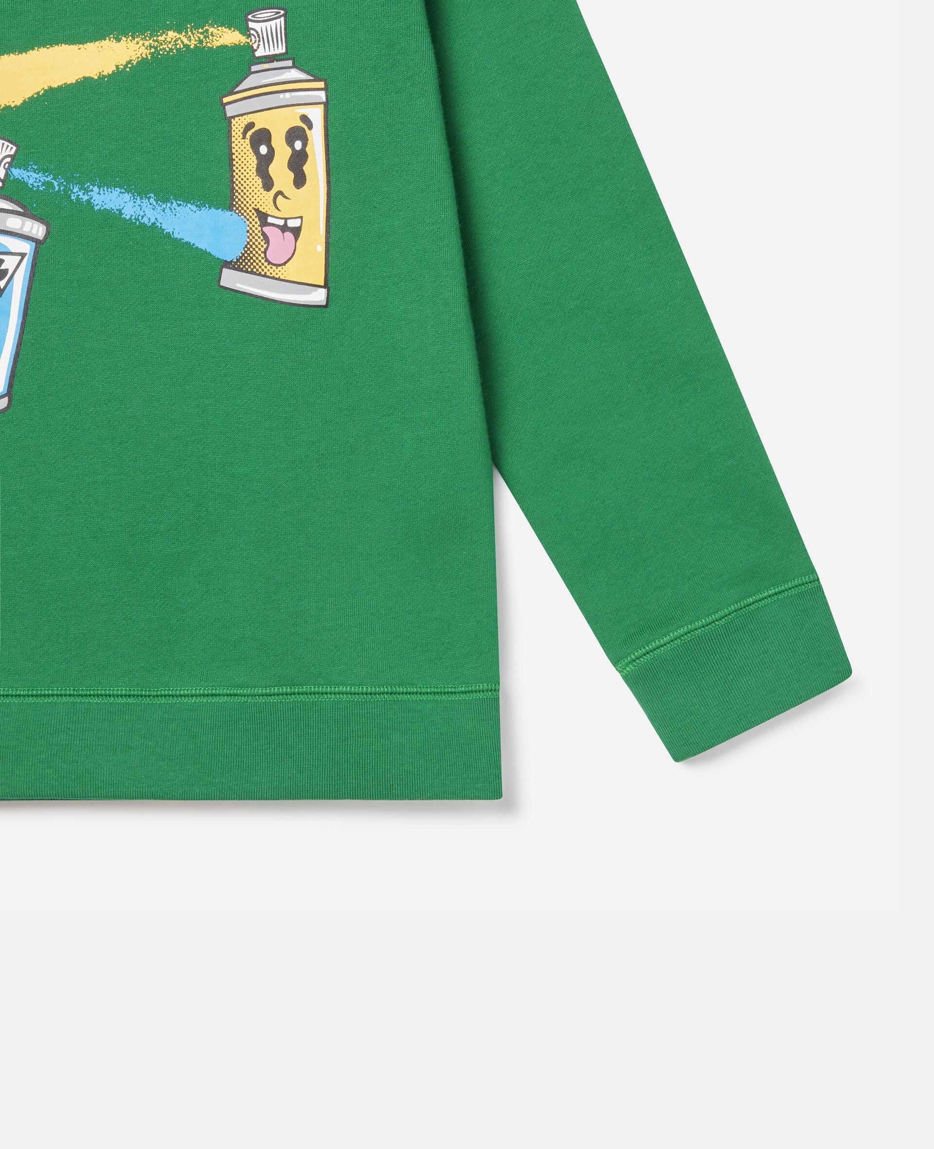 Spray Gang Fleece Sweatshirt-Green-large image number 2