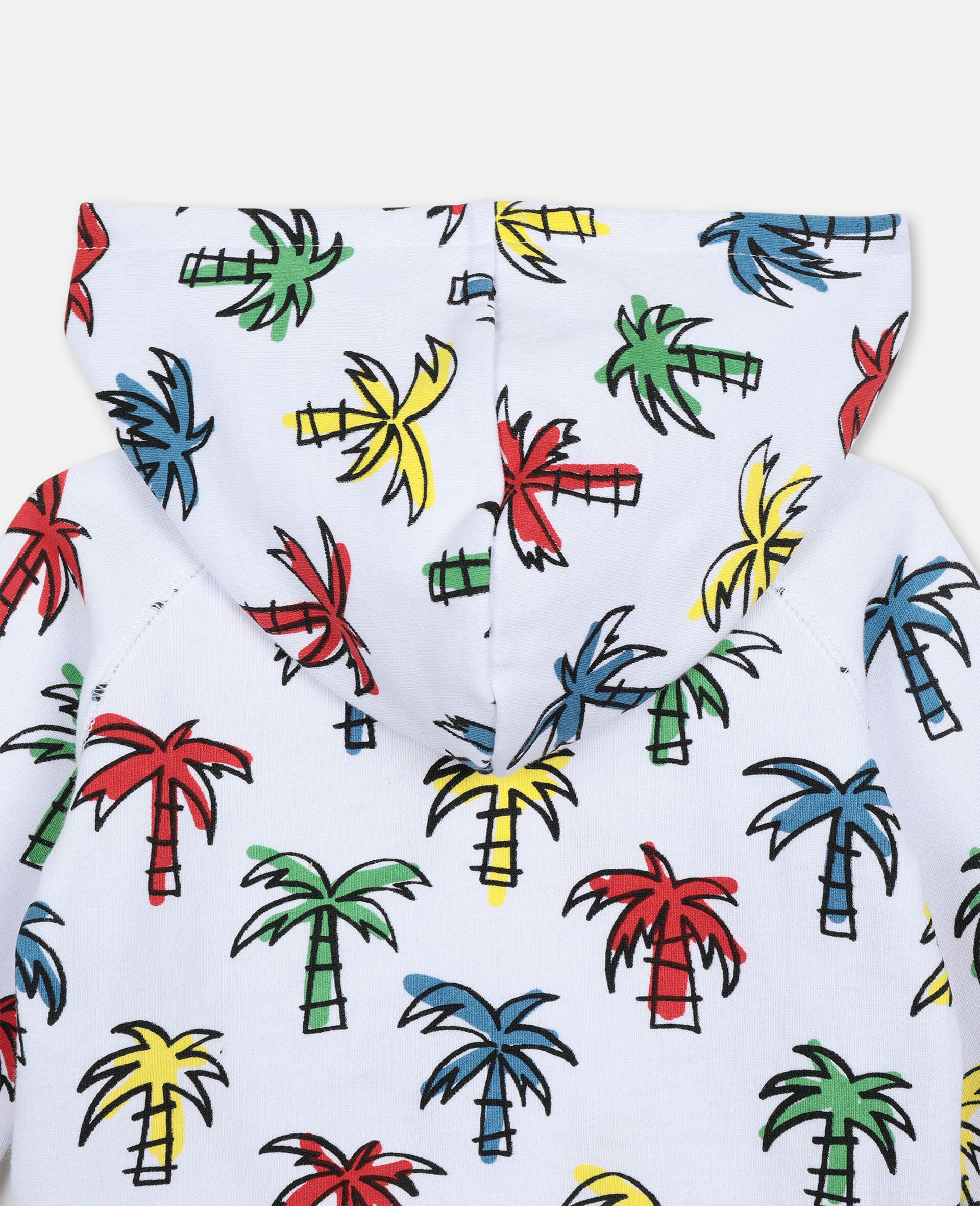 Doodly Palms Cotton Hoodie-Multicolour-large image number 1