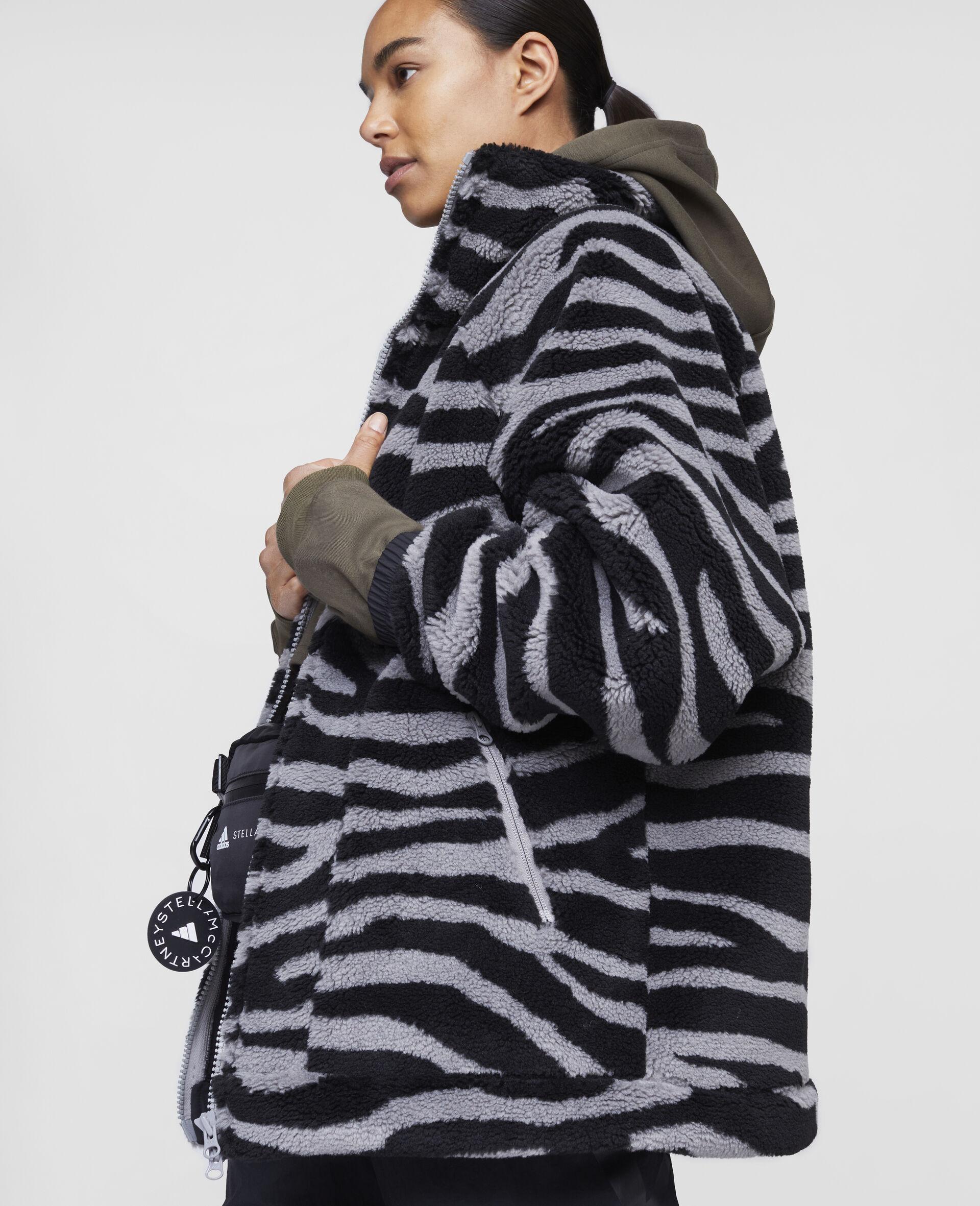 Fleece Hooded Training Jacket-Multicolour-large image number 3