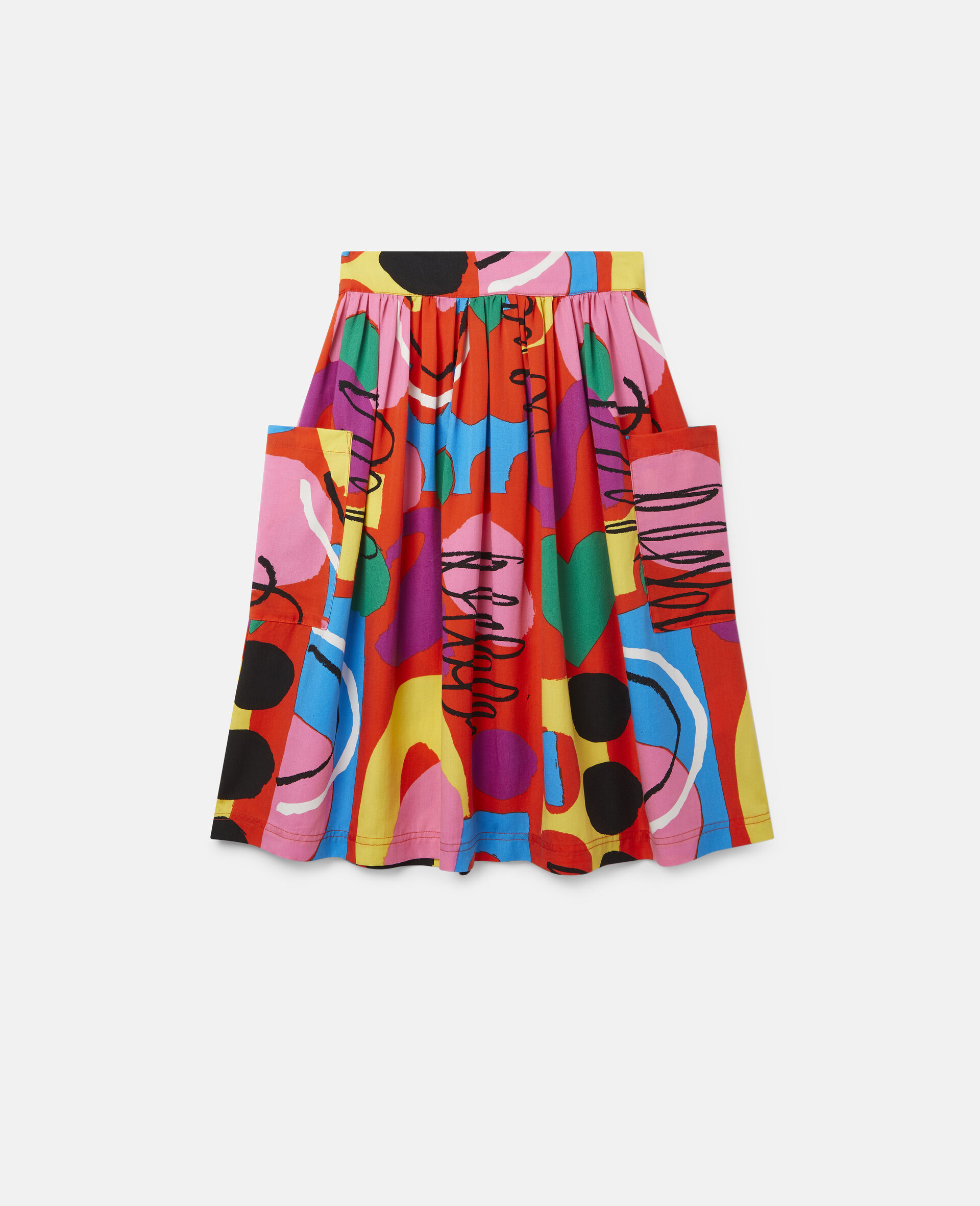 Painting Tencel Twill Skirt-Multicolour-large image number 0