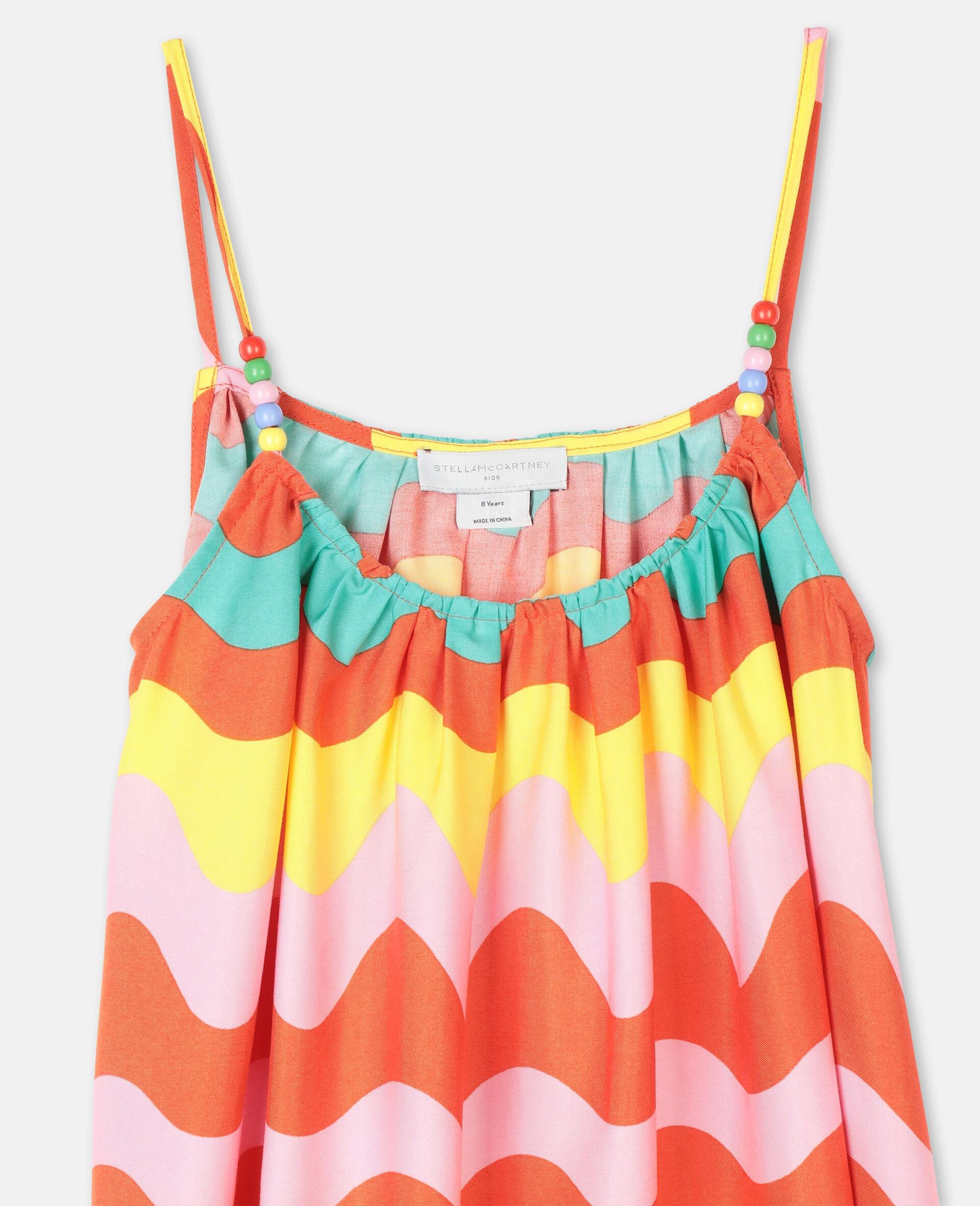 Swiggle粘胶纤维连衣裙-Multicolored-large image number 1