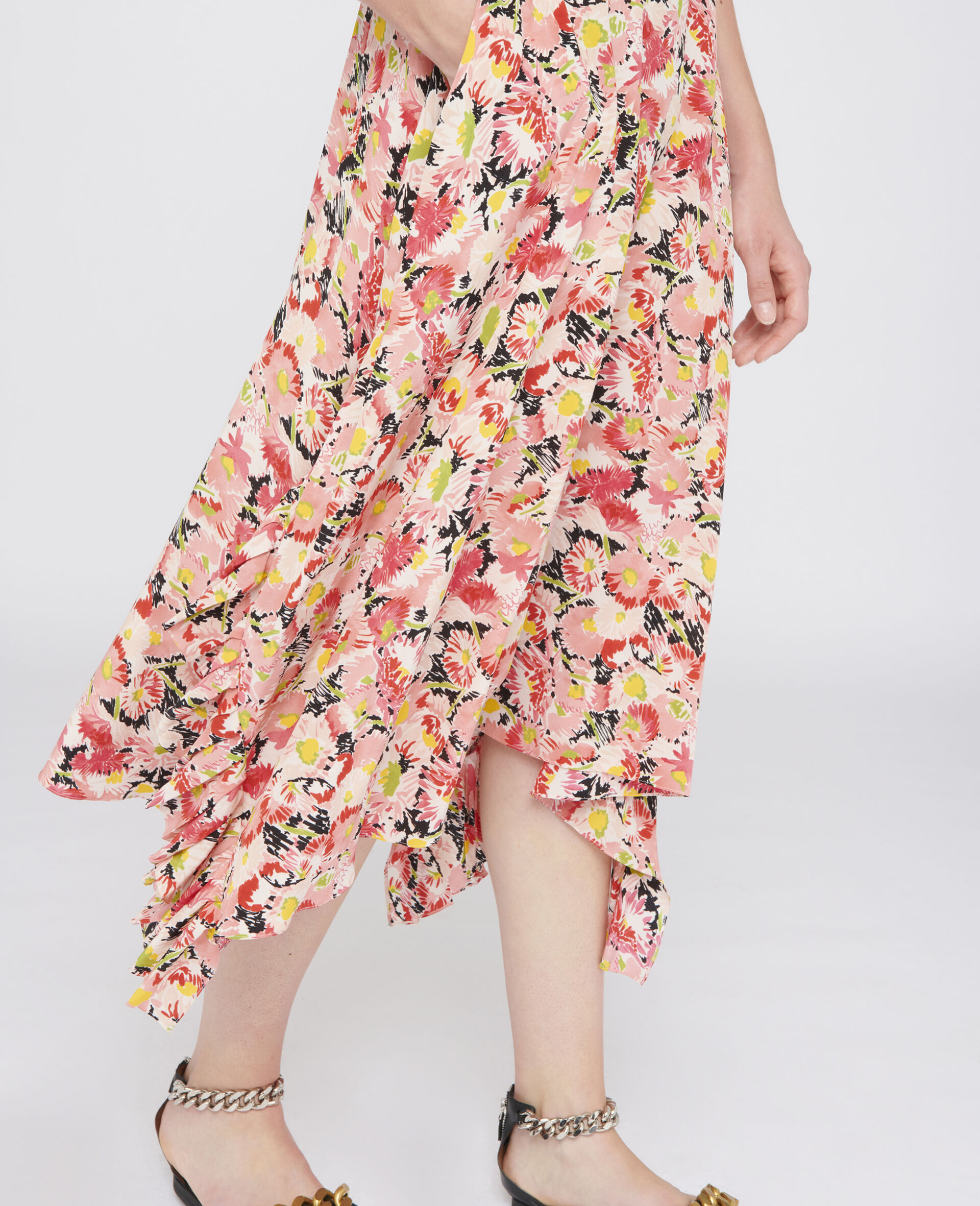 Ashlyn Silk Skirt-Multicolour-large image number 3