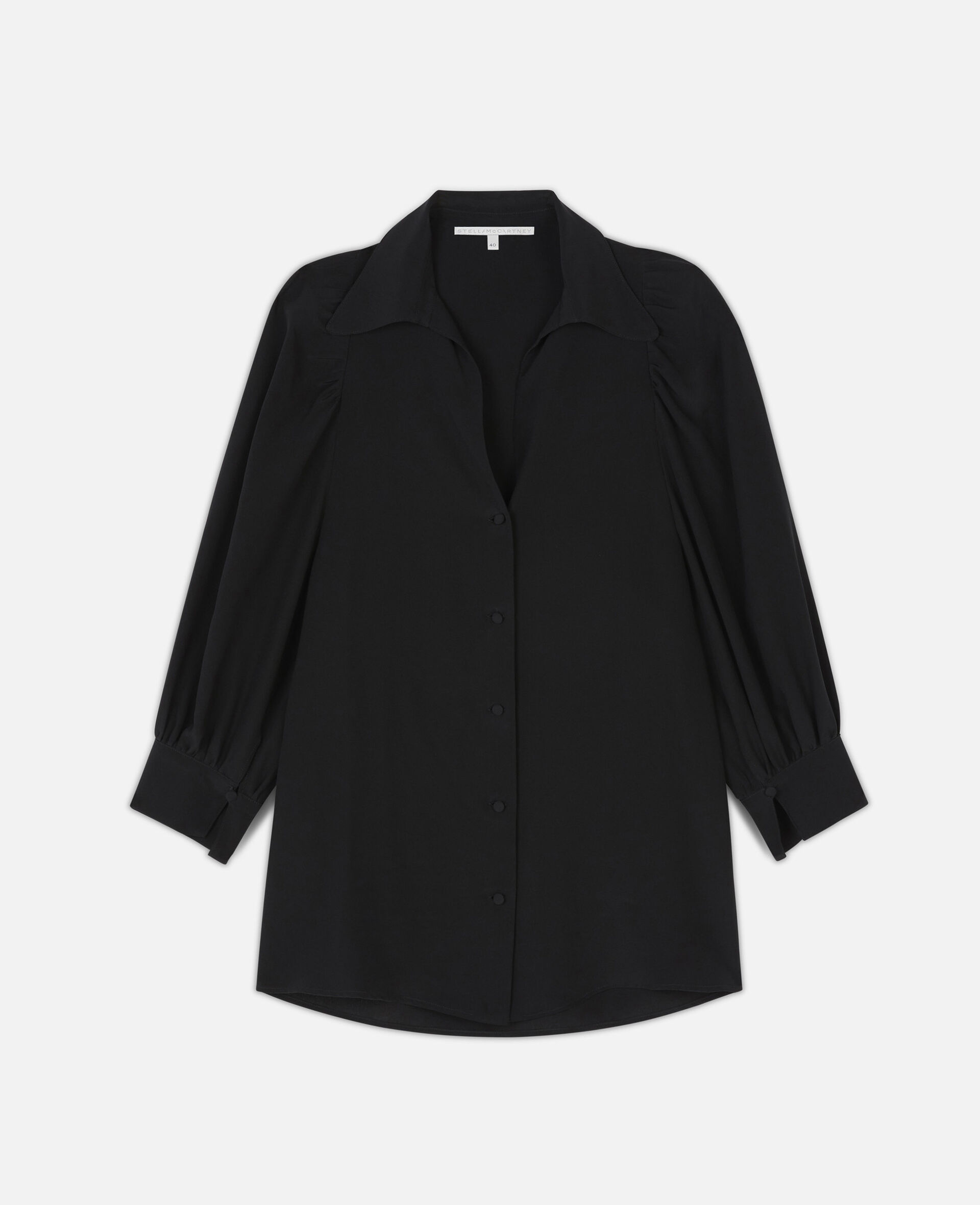 Reese Silk Shirt -Black-large image number 0