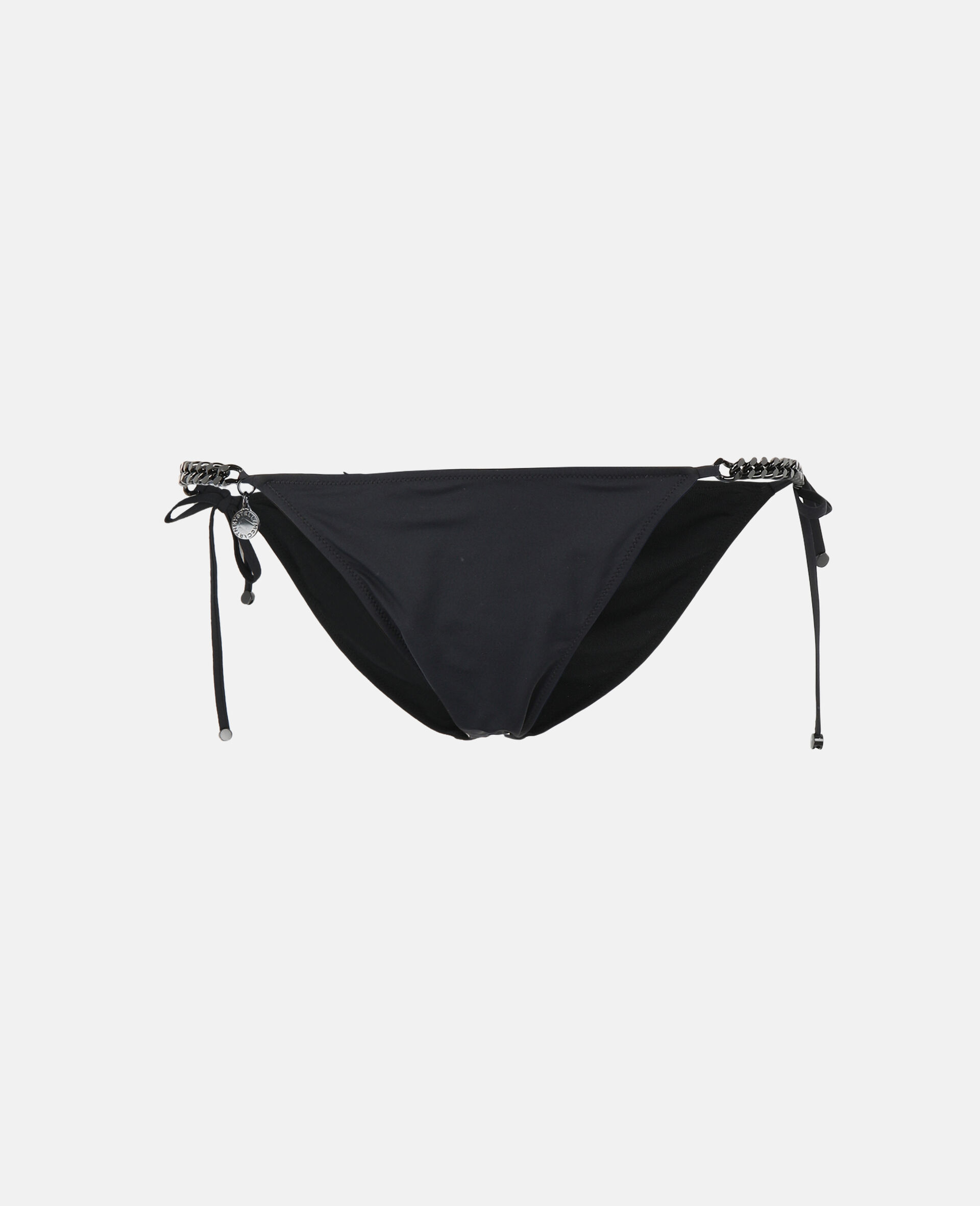 Iconic Chain Tie Side Bikini Bottoms-Black-large image number 0