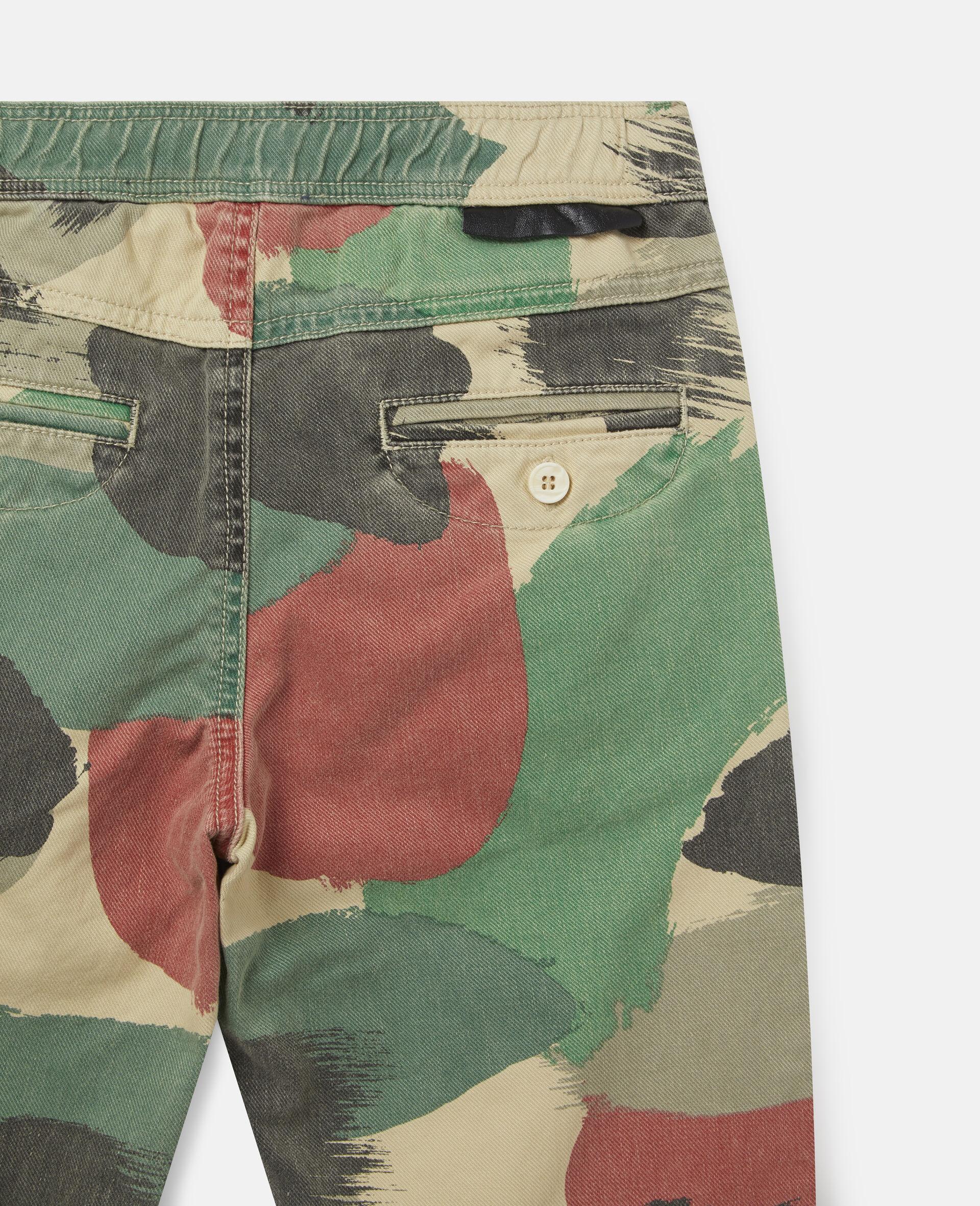 Camouflage Cargo Denim Pants-Multicolour-large image number 1