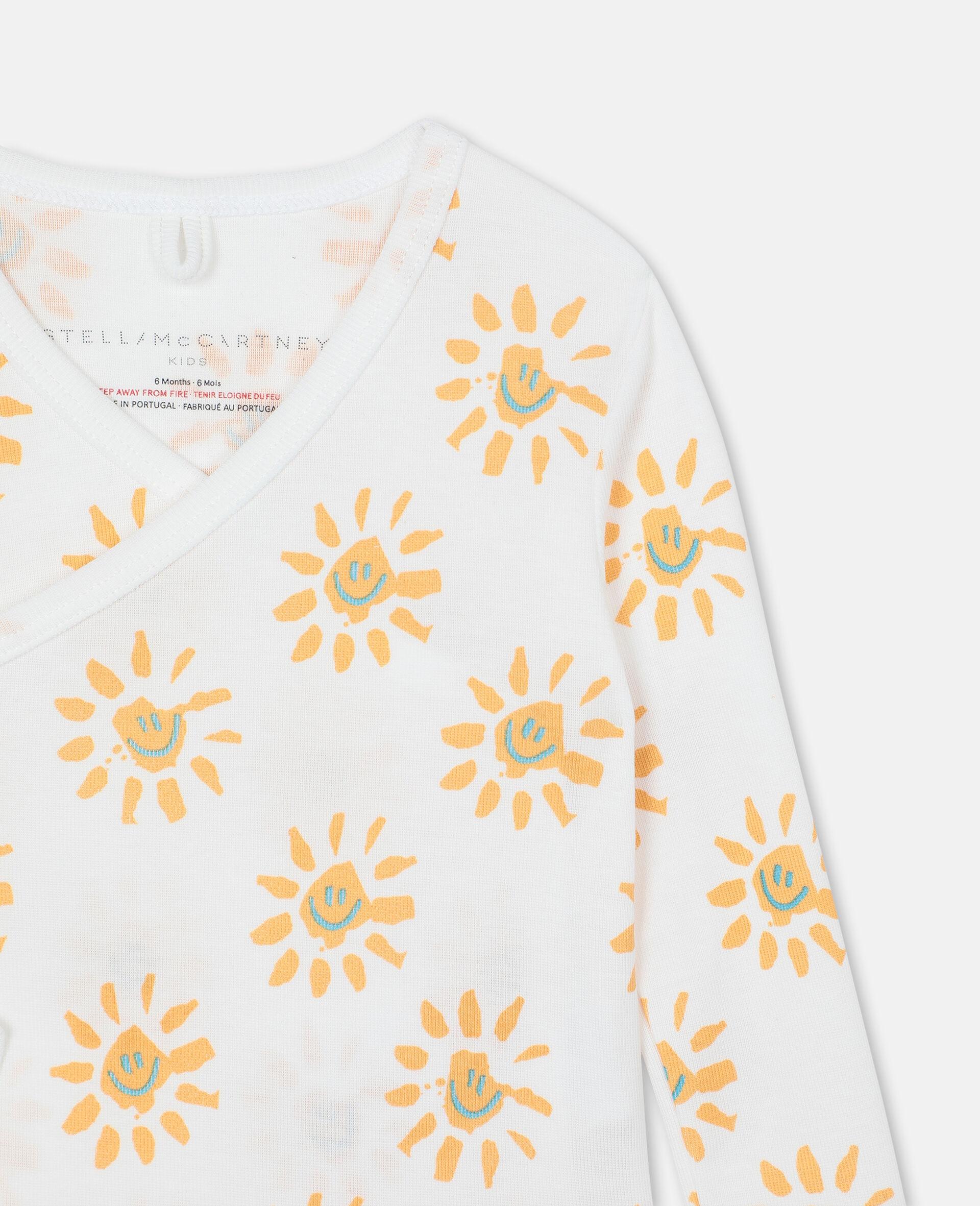 Happy Sun Jersey Rib Bodies Set-Yellow-large image number 2