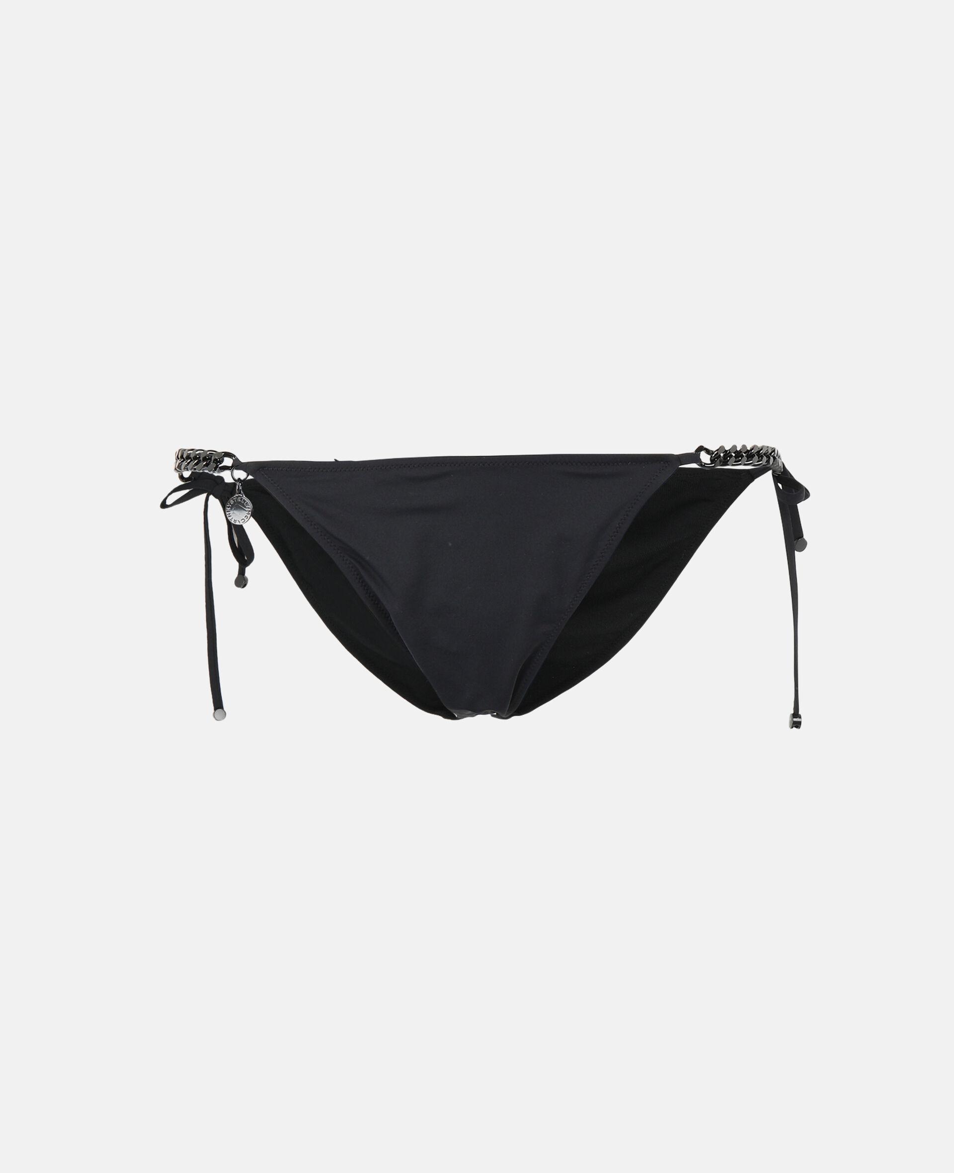 Iconic Chain Tie Side Bikini Bottoms-Black-large image number 0