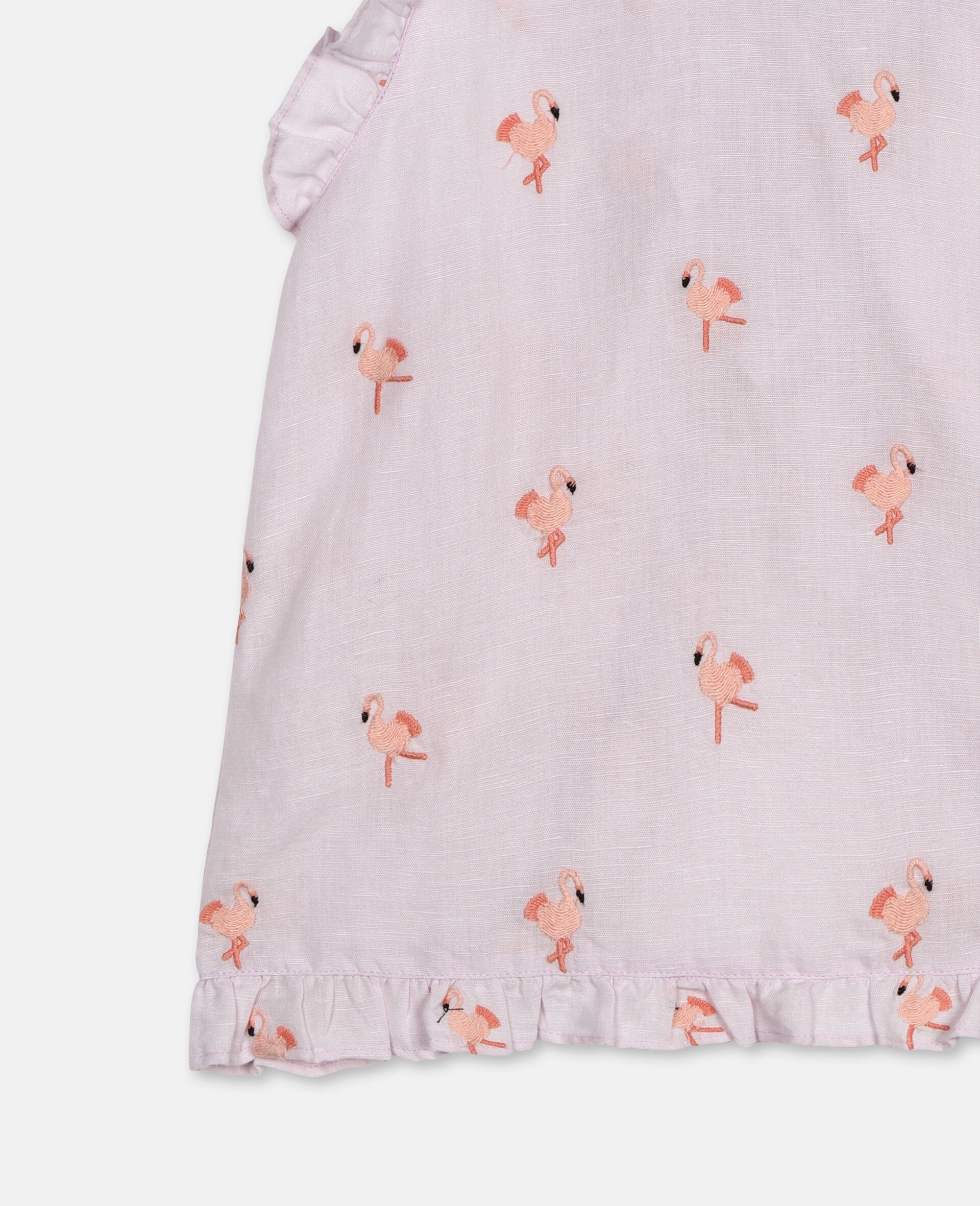 Embroidered Flamingo Top -Pink-large image number 2