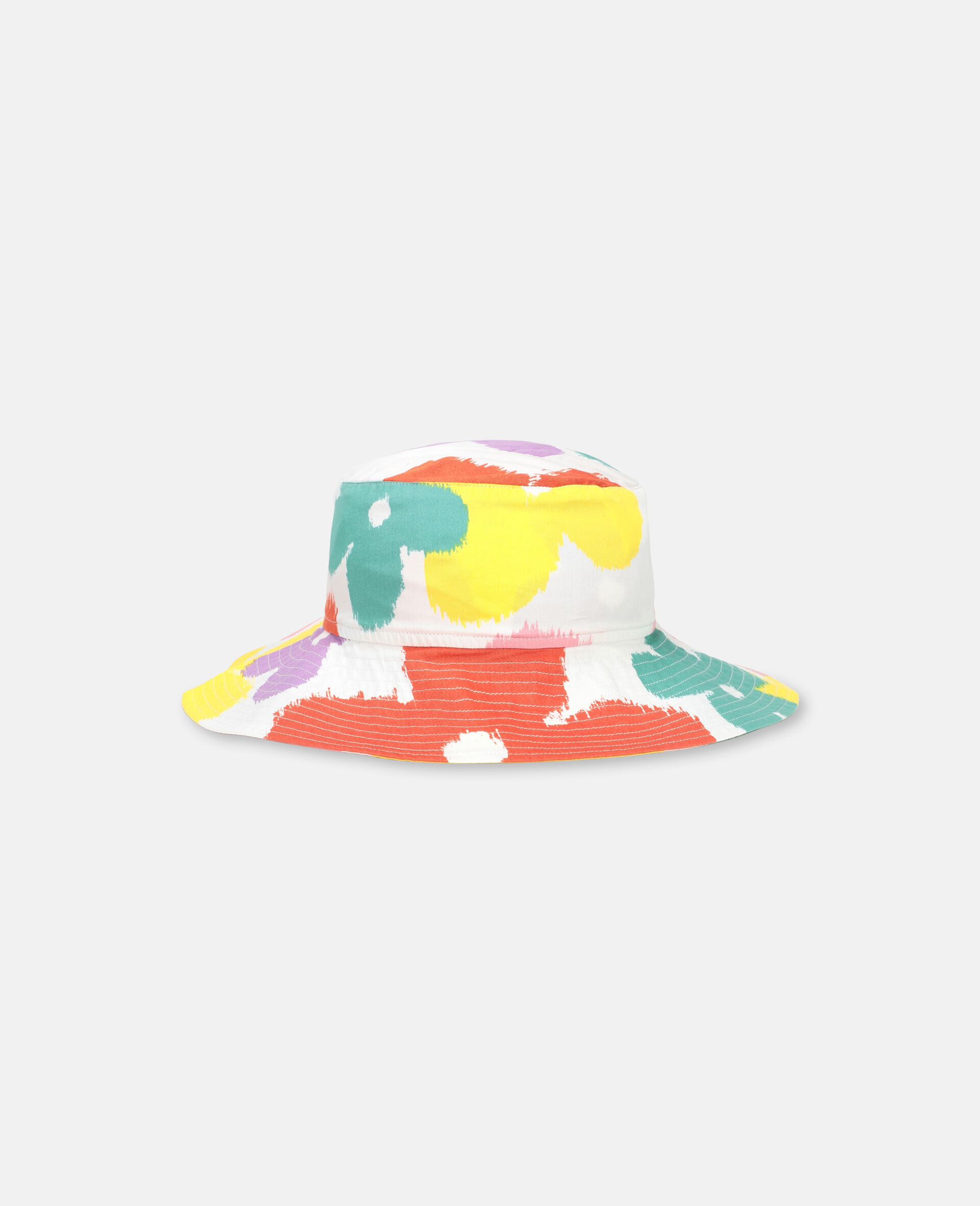 Flower Cotton Hat-Multicolour-large image number 0