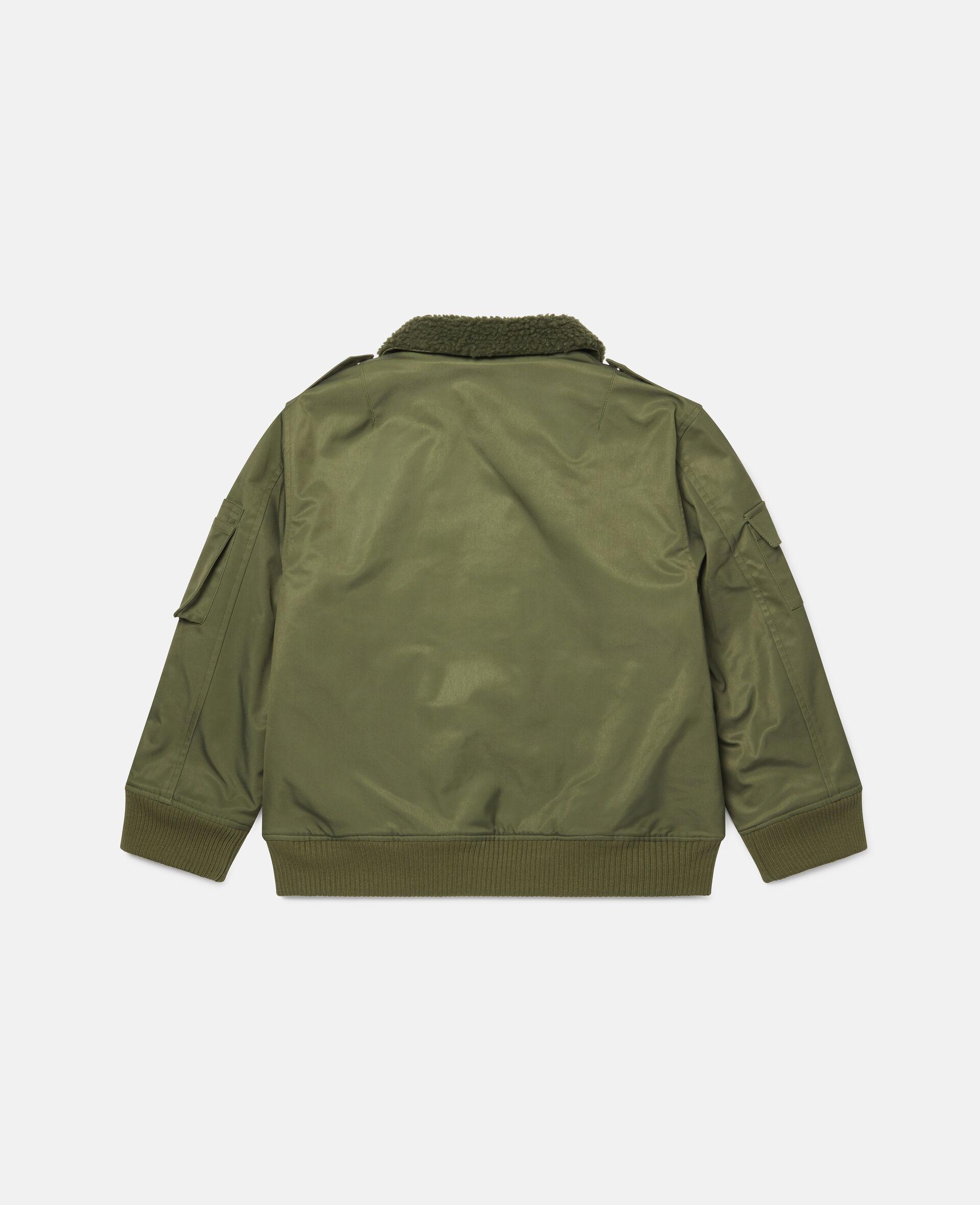 Mountain Badges Jacket-Green-large image number 3