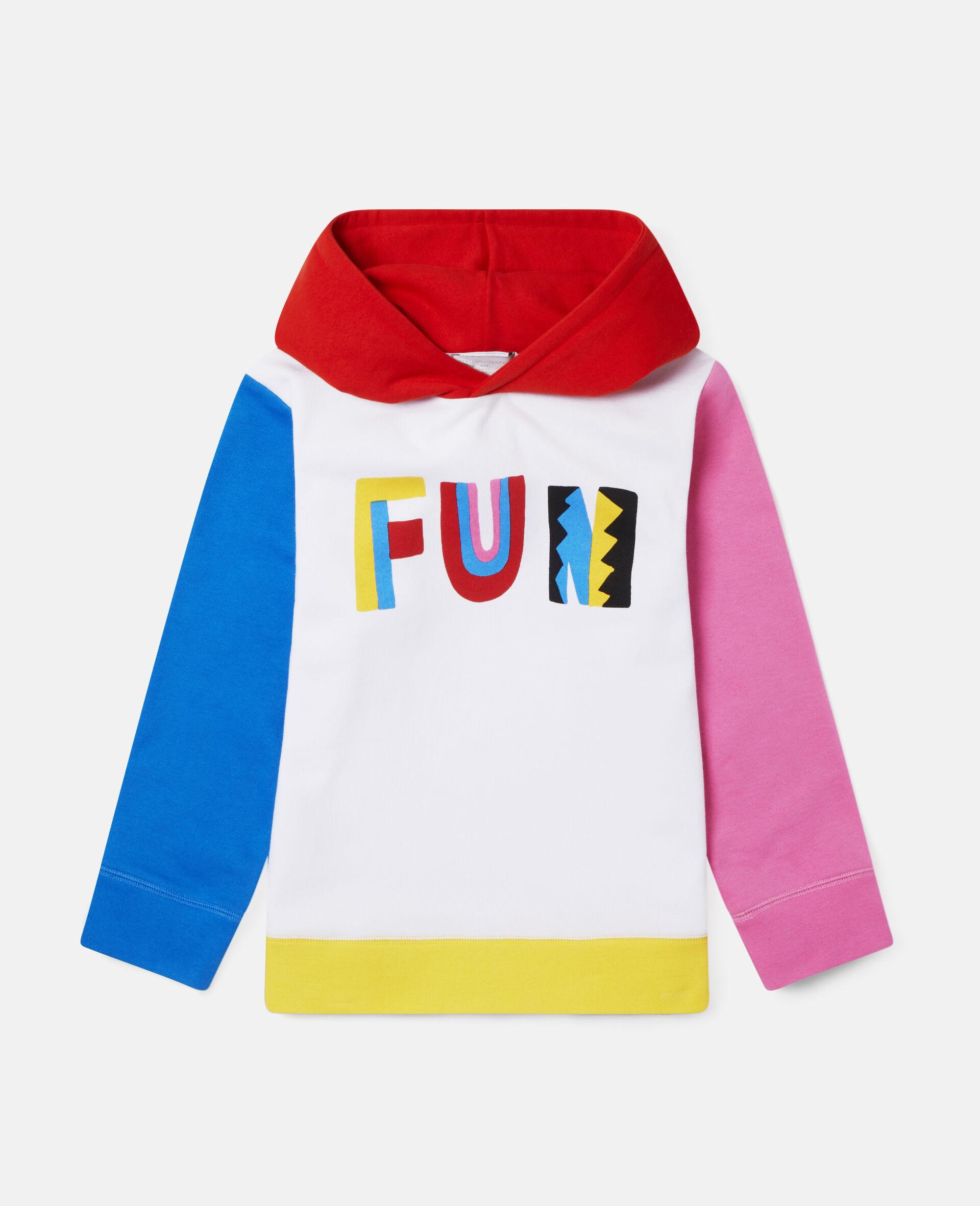 Sweat-shirt à capuche oversize en polaire colourblock Fun-Fantaisie-large image number 0