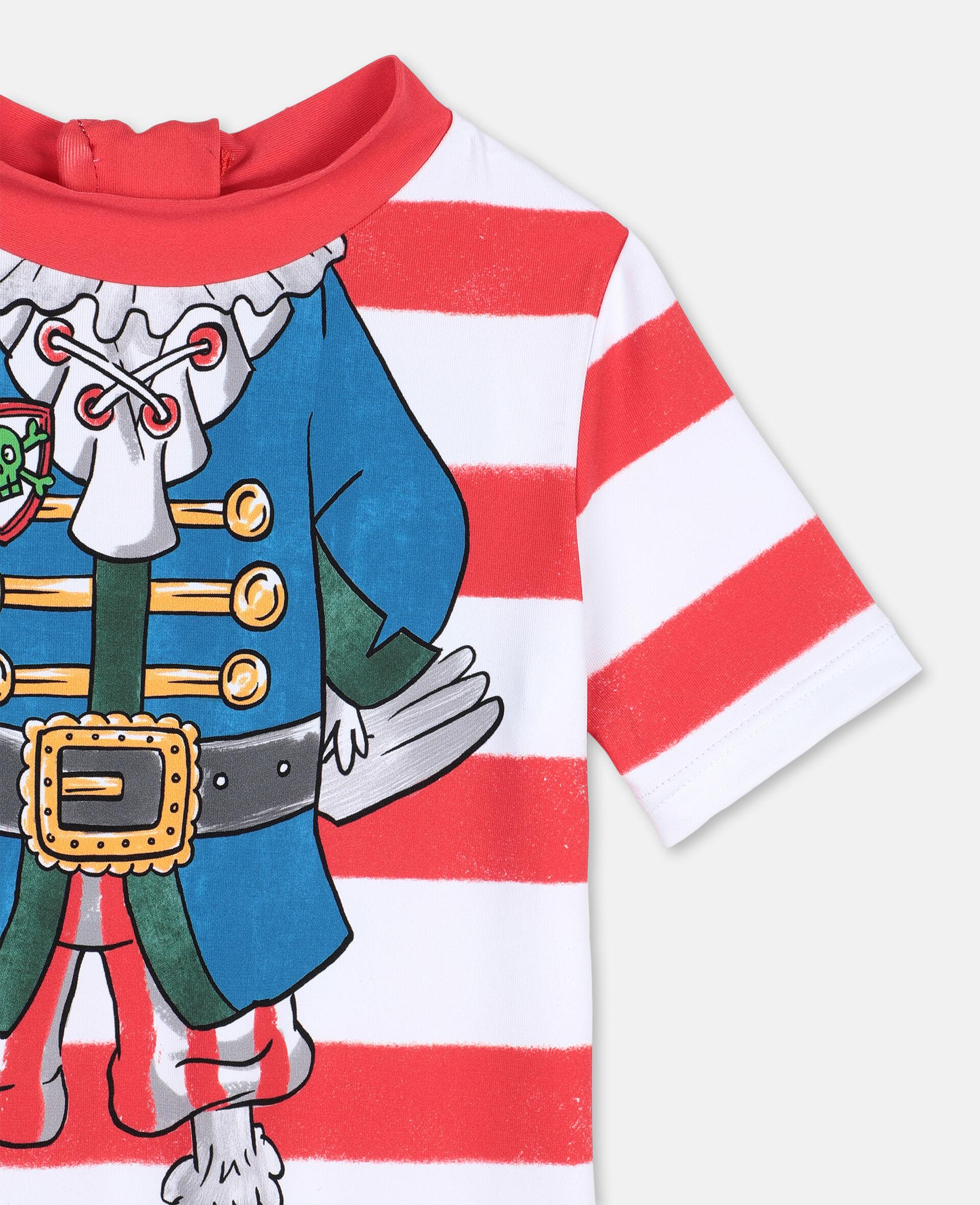 Badeanzug mit Piraten-Print und Trompe-L'Oeil-Effekt -Bunt-large image number 1