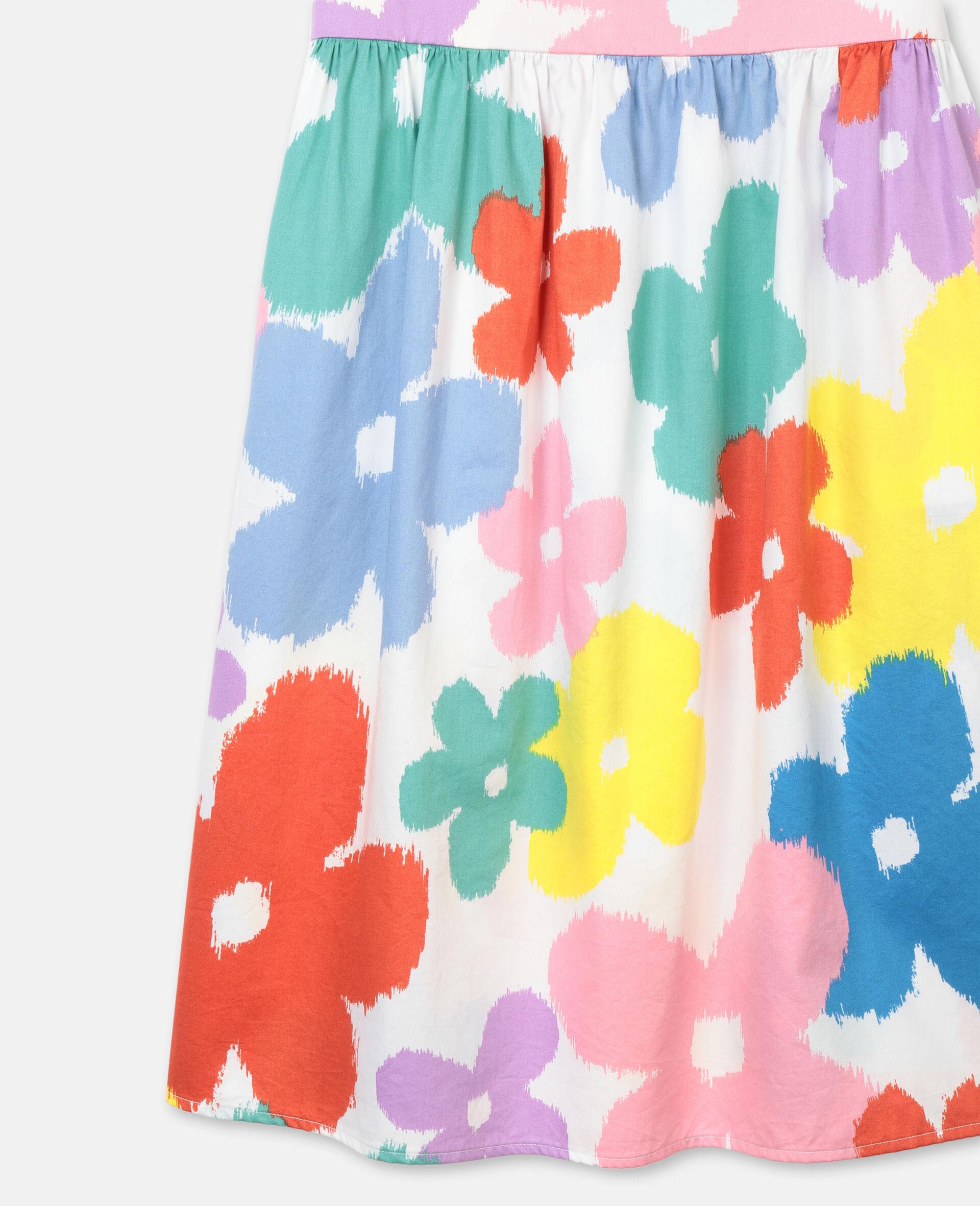 Flowers Cotton Dress-Multicoloured-large image number 1