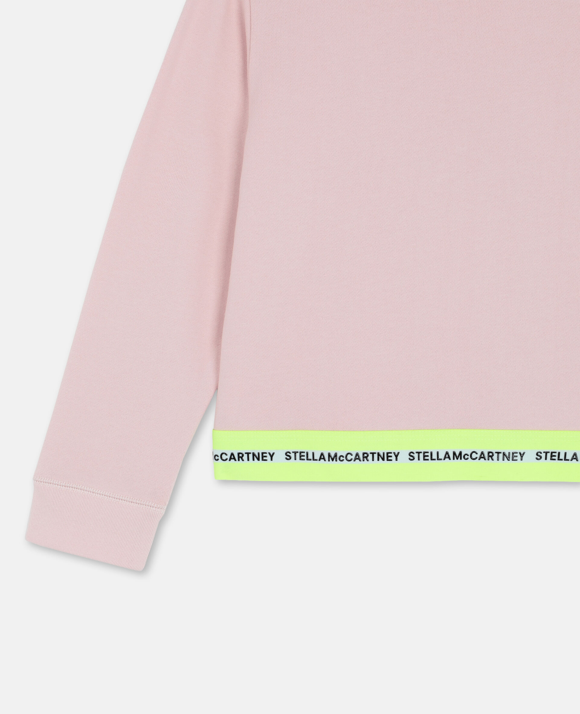 Sportliches Baumwollfleece-Sweatshirt mit Logo-Rose-large image number 2