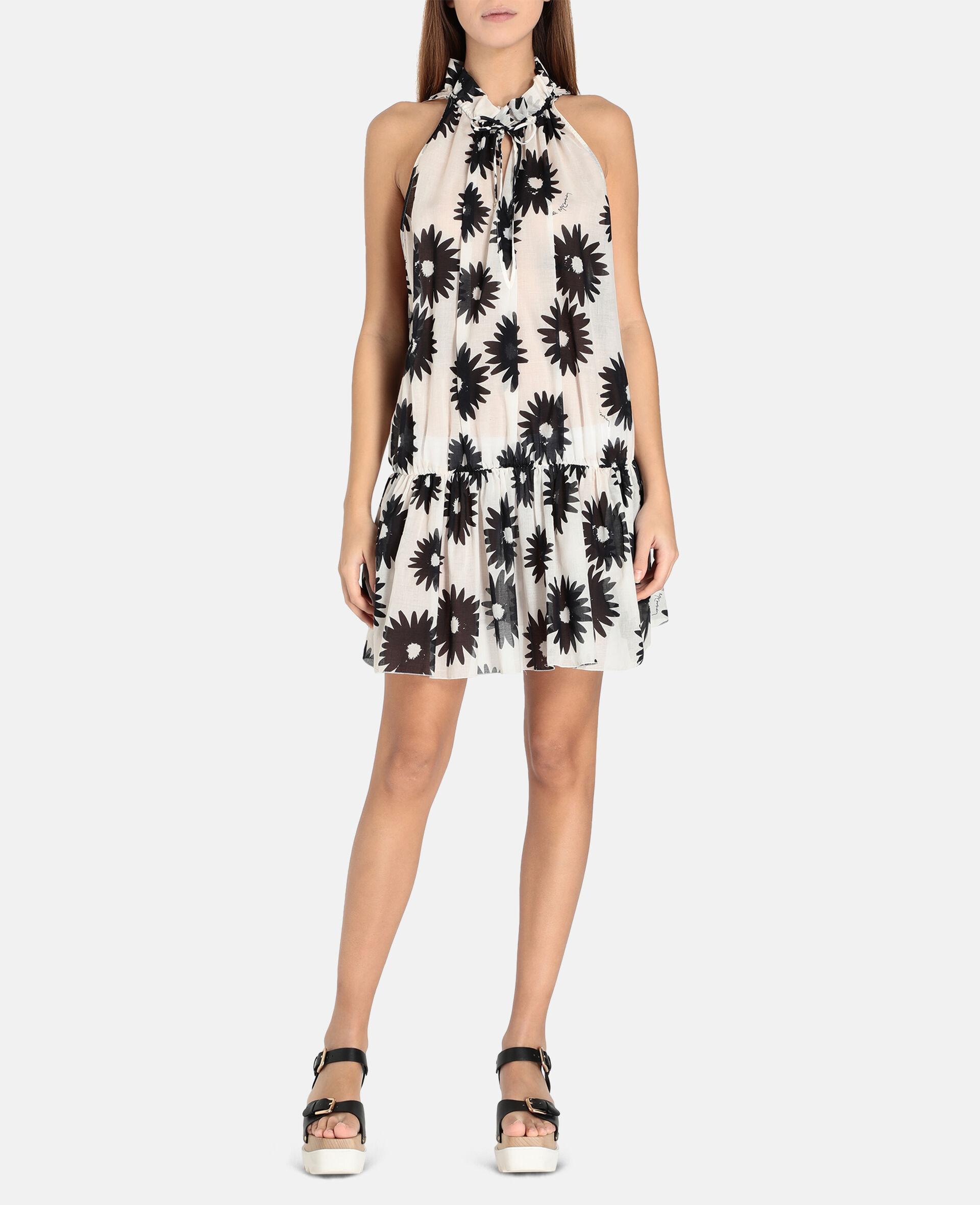 Linda Floral Print Short Dress-Multicolour-large image number 3