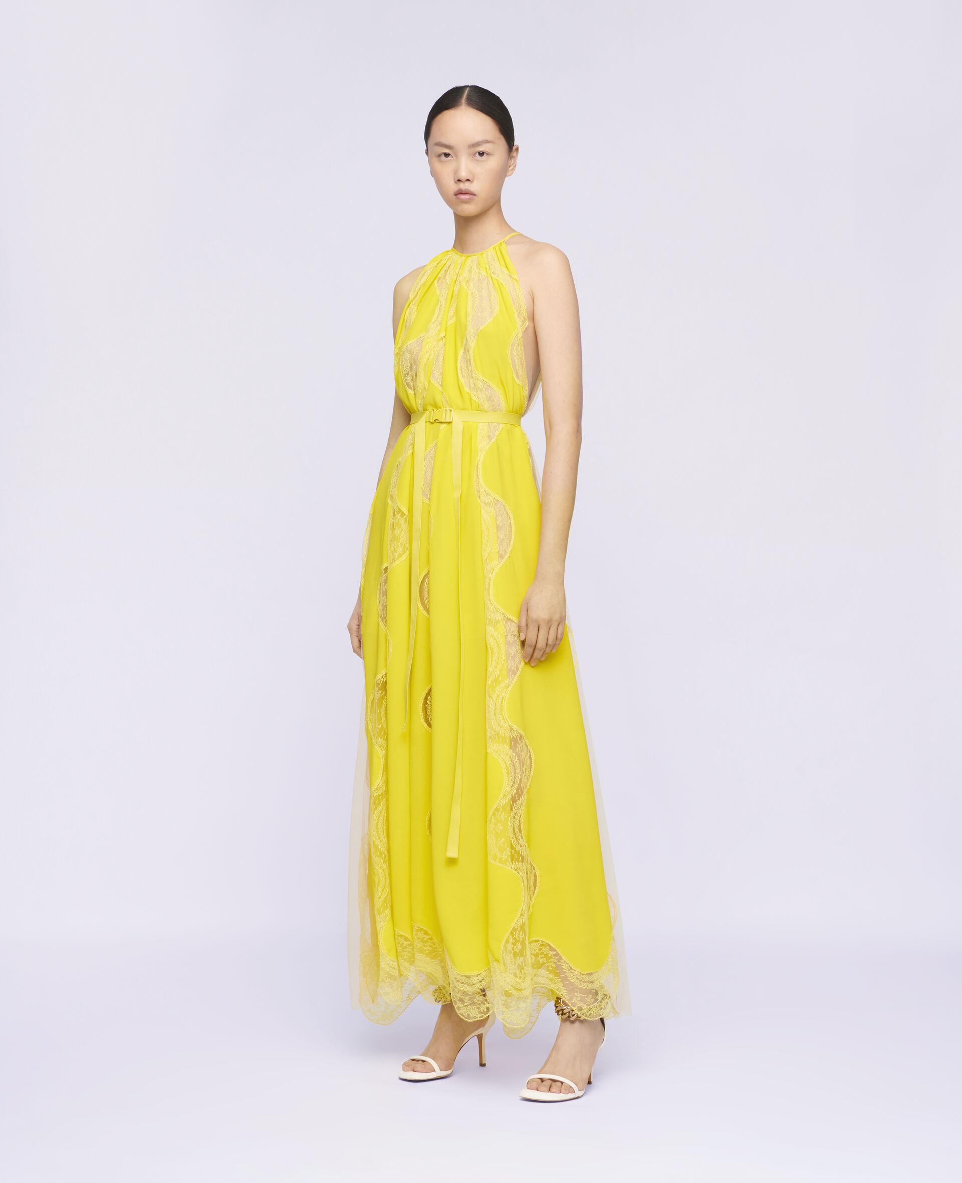 Tiffany 蕾丝连衣裙 -黄色-large image number 1