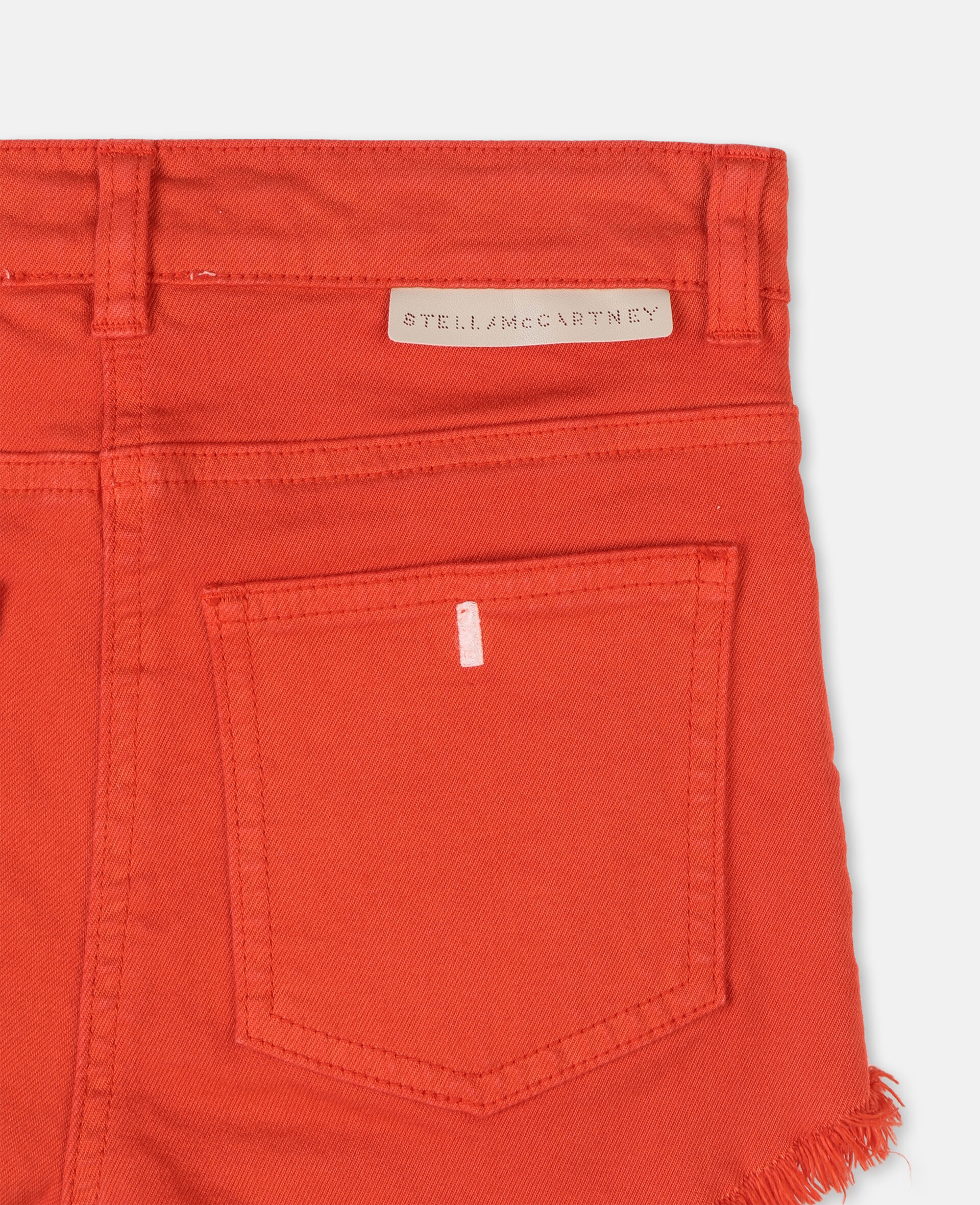 Denim Red Shorts -Red-large image number 2