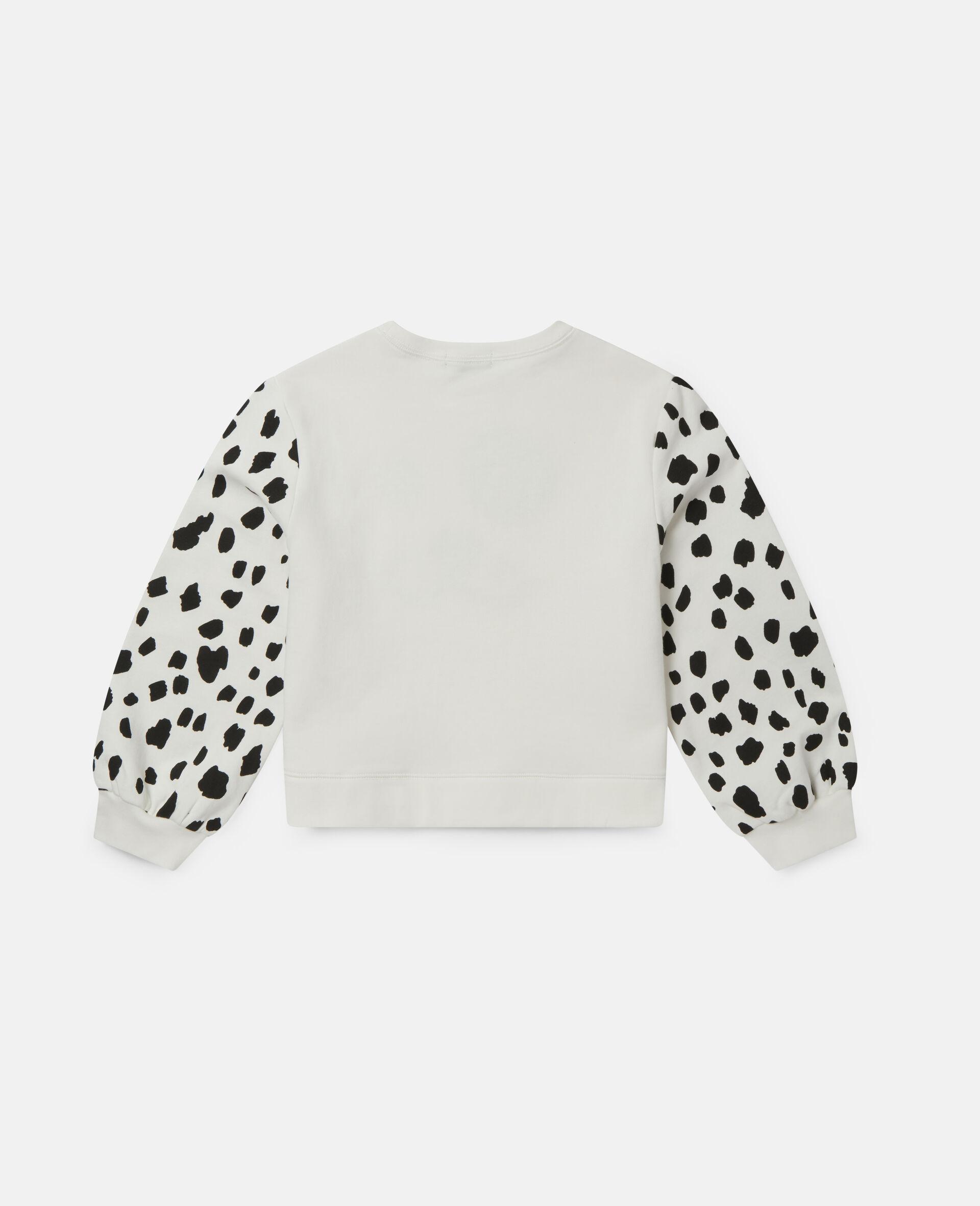 Dalmatian Spots Fleece Tracksuit-White-large image number 3