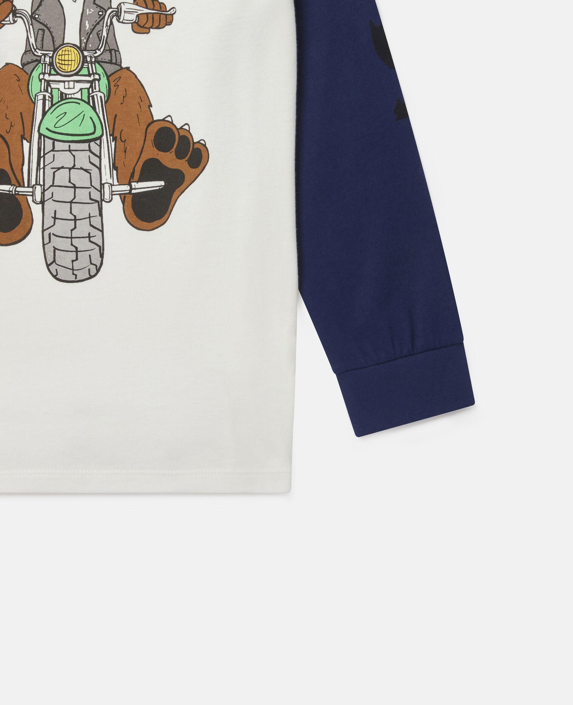 Haut oversize en coton imprimé chien motard-Fantaisie-large image number 2