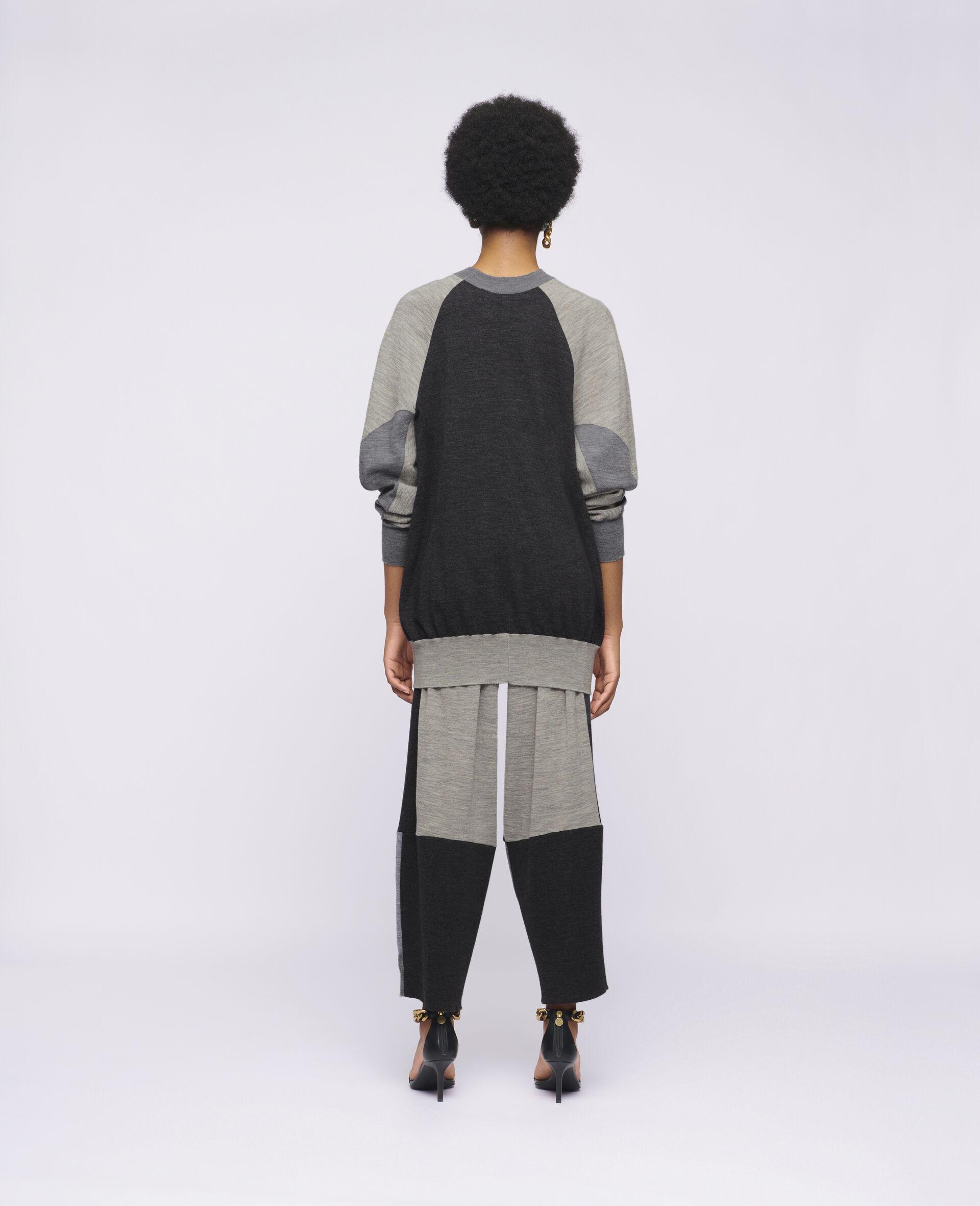 Oversized Knit Jumper-Grey-large image number 2