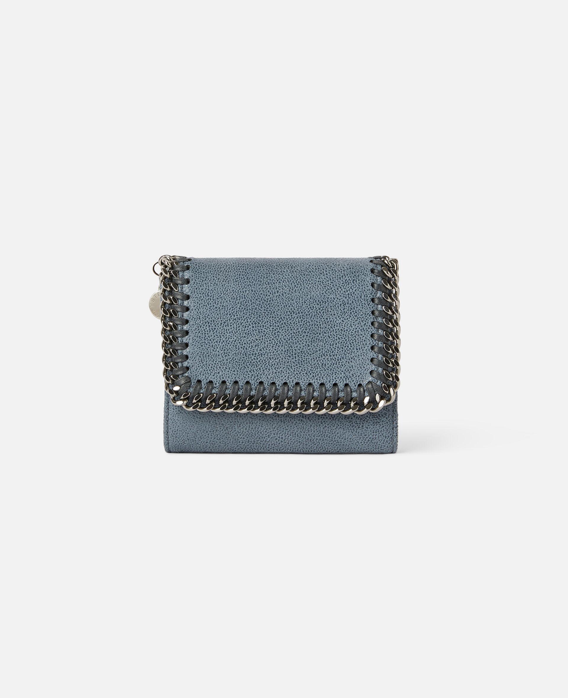 Petit portefeuille à rabat Falabella-Gris-large image number 0