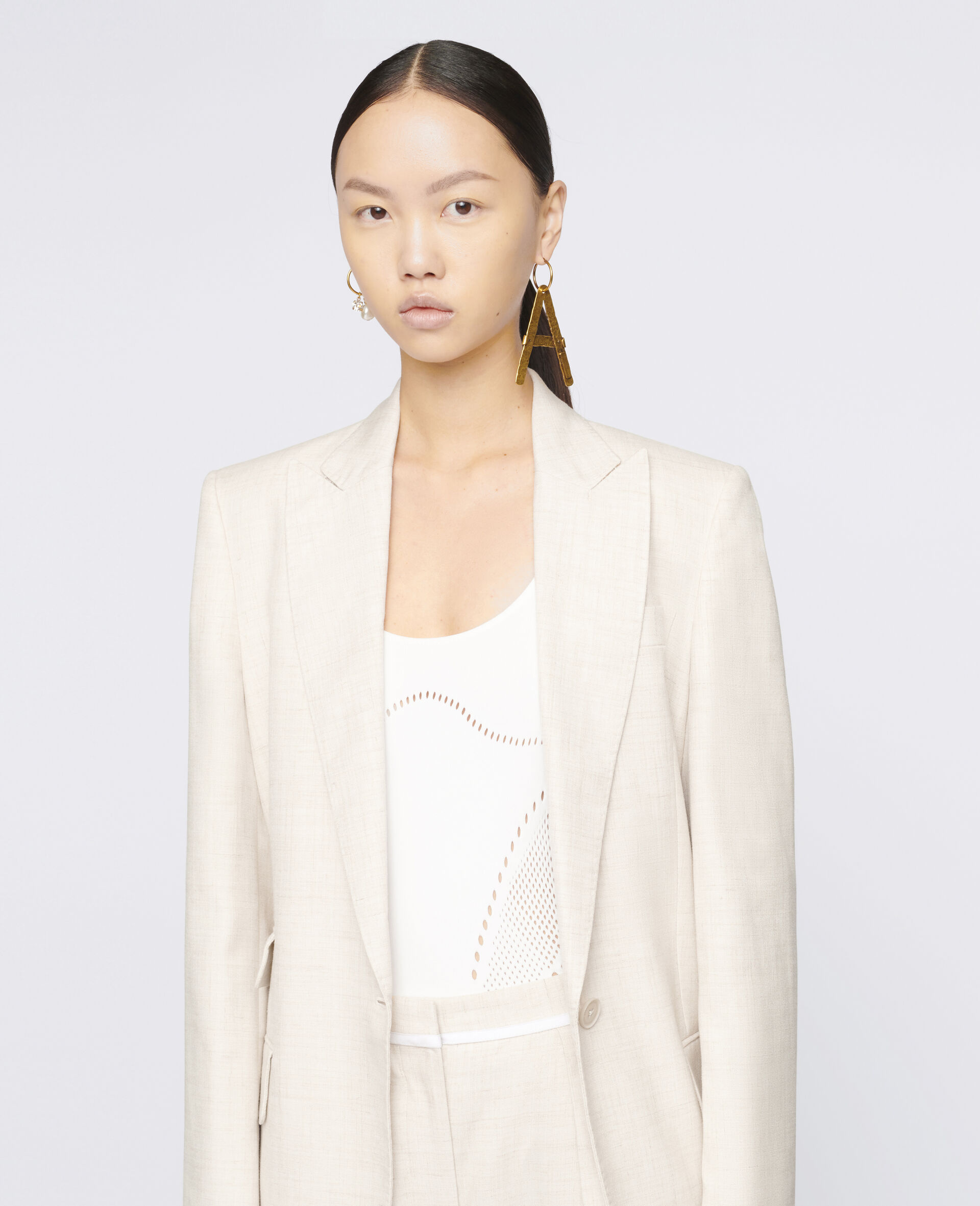 Bell Tailored Jacket-Beige-large image number 3