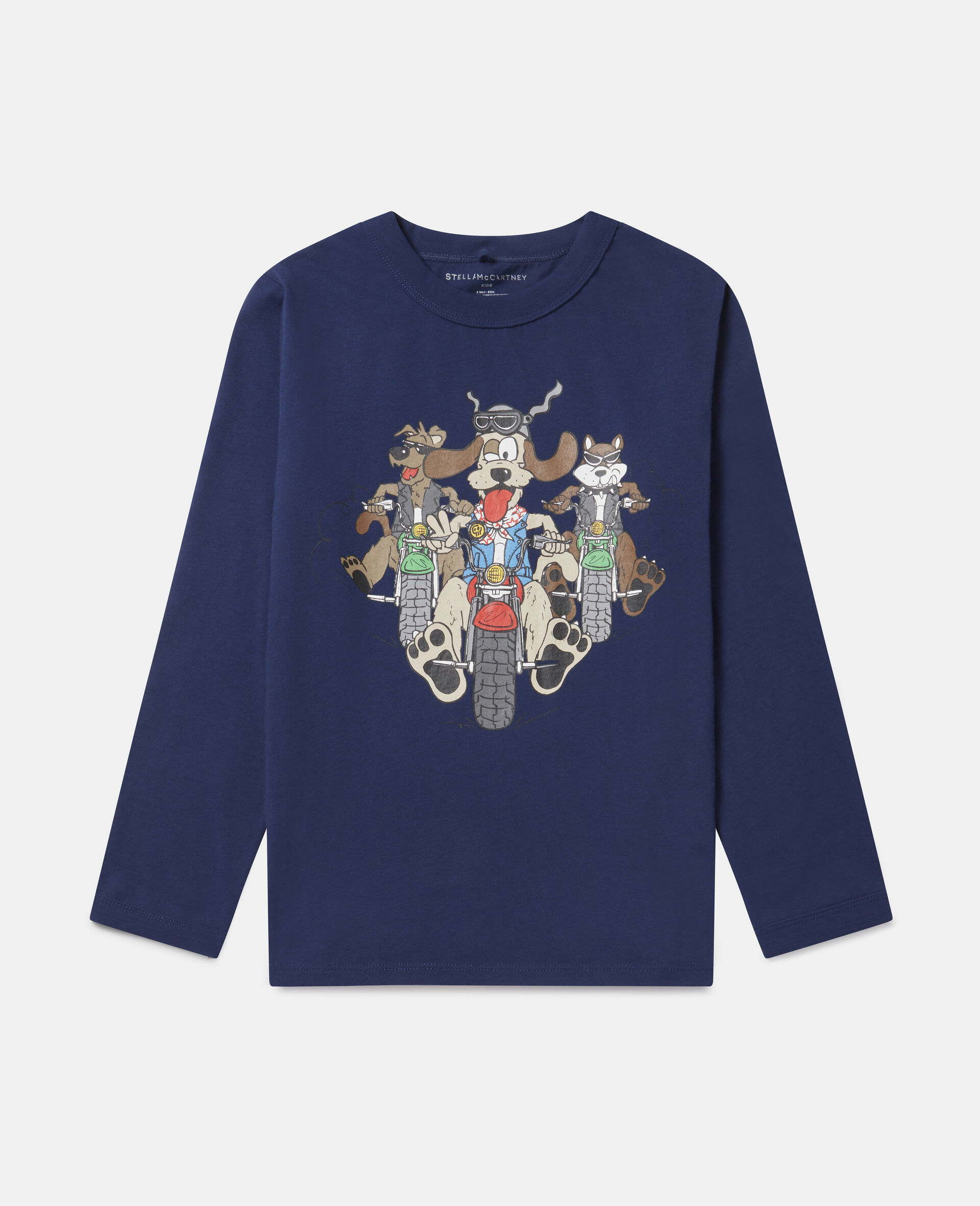 Doggie Riders Oversized Cotton Top-Blue-large image number 0