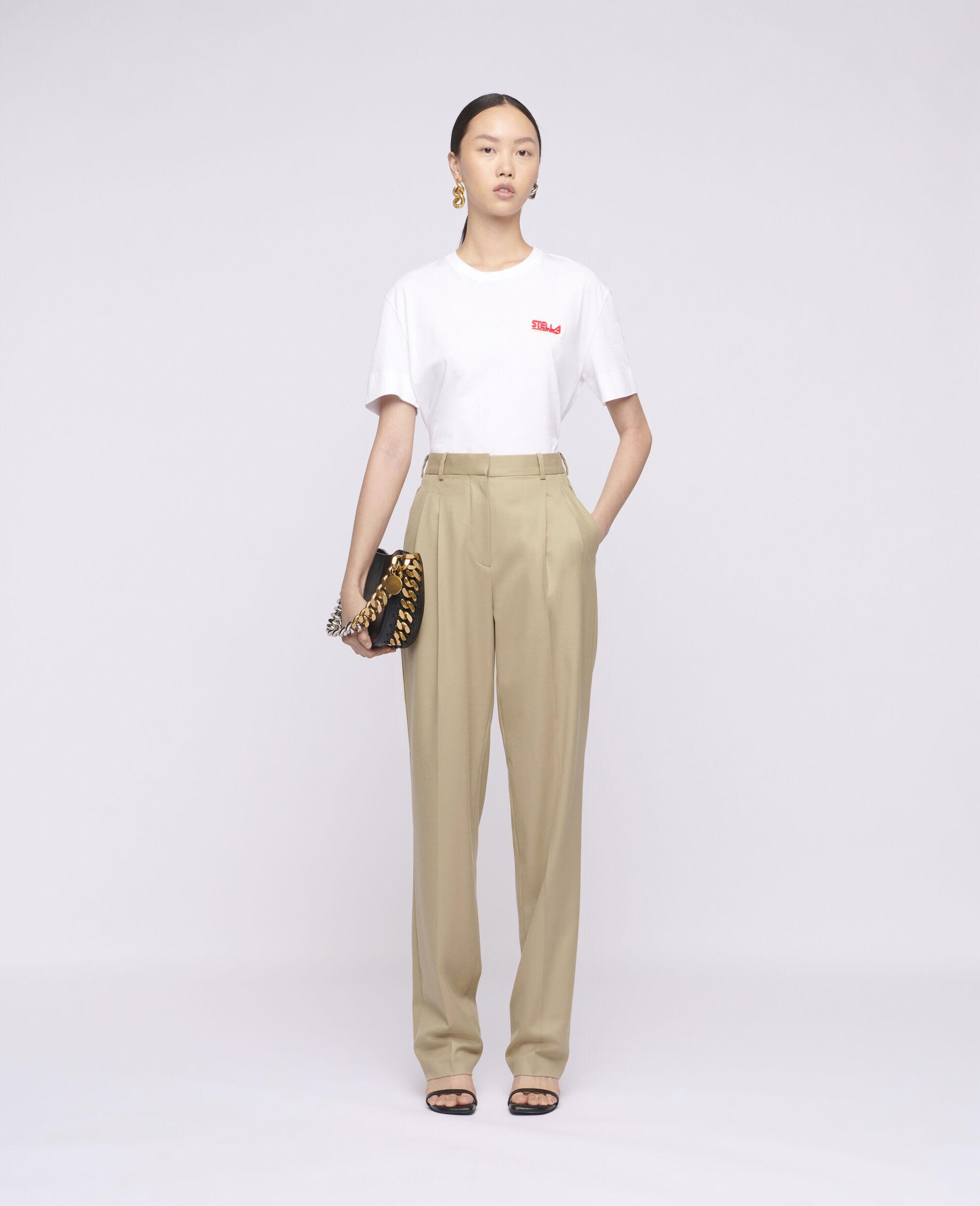 Pantalon en laine Kaiya-Marron-large image number 1