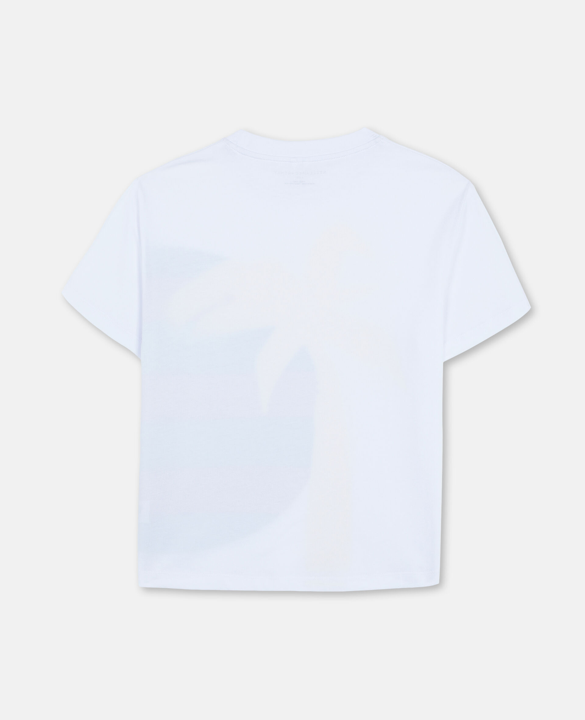 T-shirt oversize en coton à motif soleil et palmier -Blanc-large image number 3