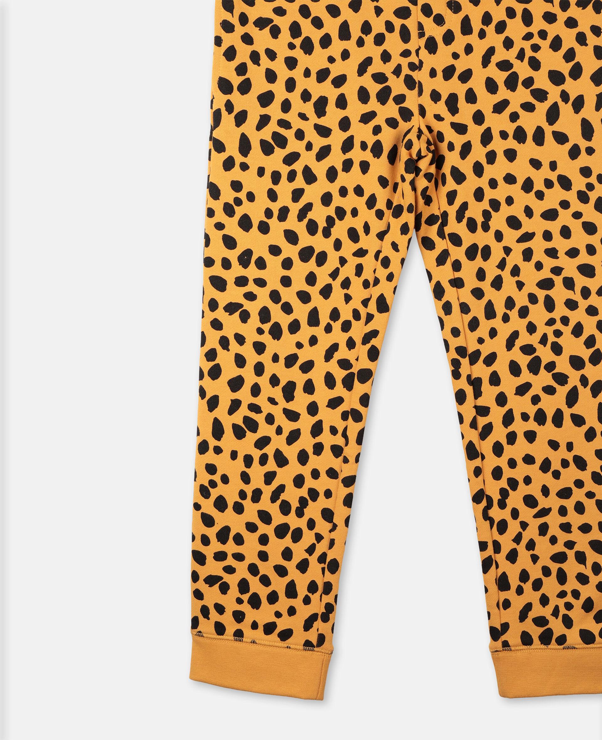 Cheetah Dots Cotton Joggers  -Multicolour-large image number 1