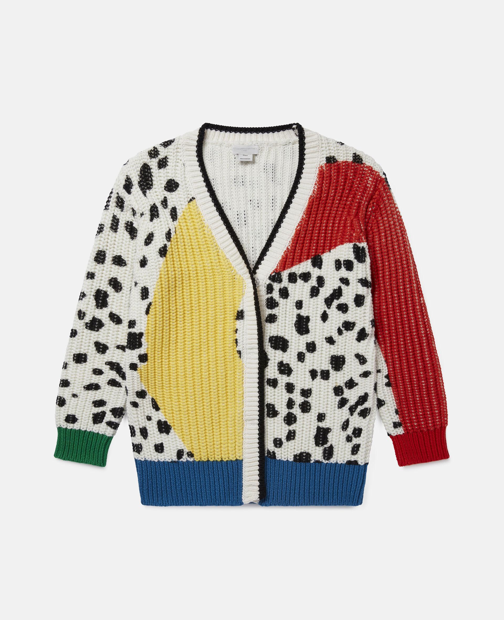 Dalmatian Spots Knit Cardigan -Multicoloured-large image number 0