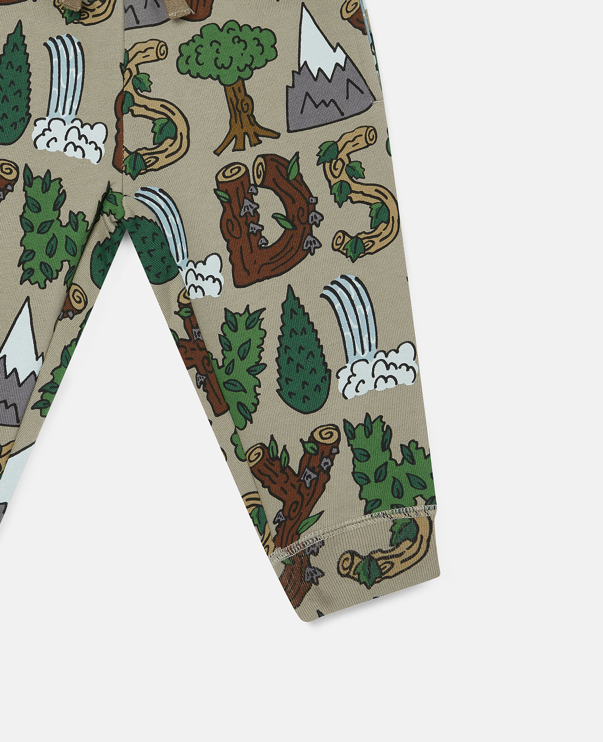 'Stay Wild' Fleece Joggers-Green-large image number 2
