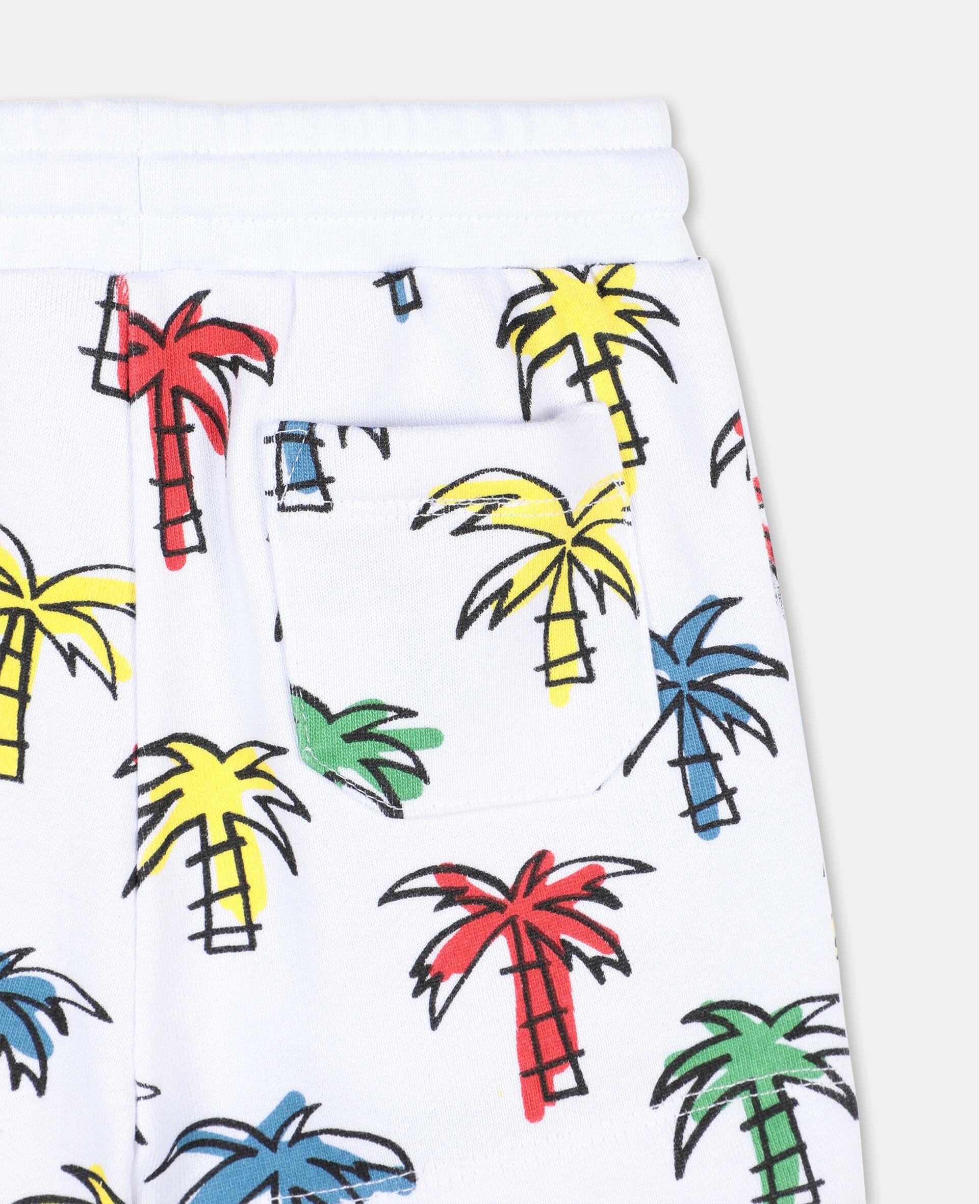 Short en coton à motif palmiers gribouillés -Fantaisie-large image number 2