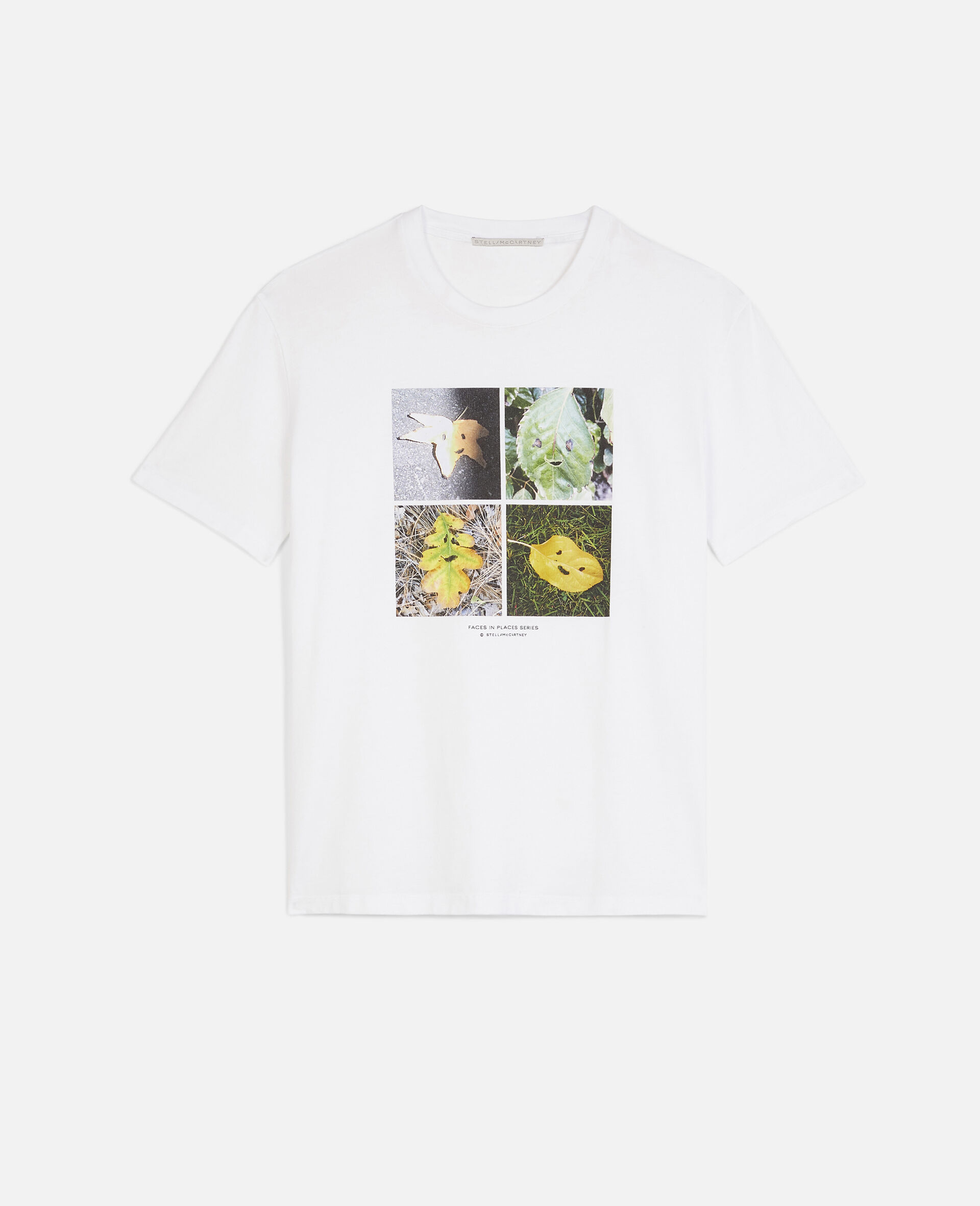 """T-Shirt mit """"Faces In Places""""-Print-Weiß-large image number 0"""